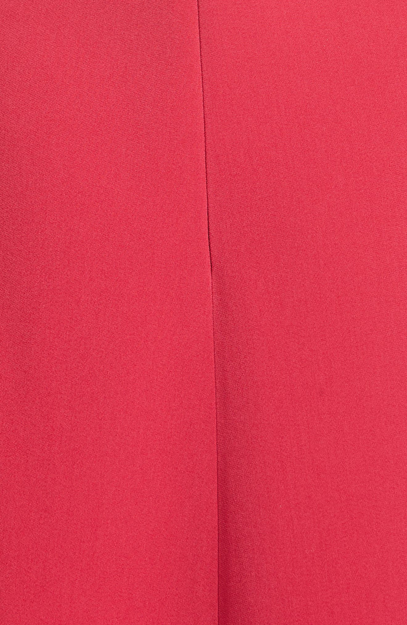 Draped Stretch Cady Dress,                             Alternate thumbnail 3, color,                             Hot Pink