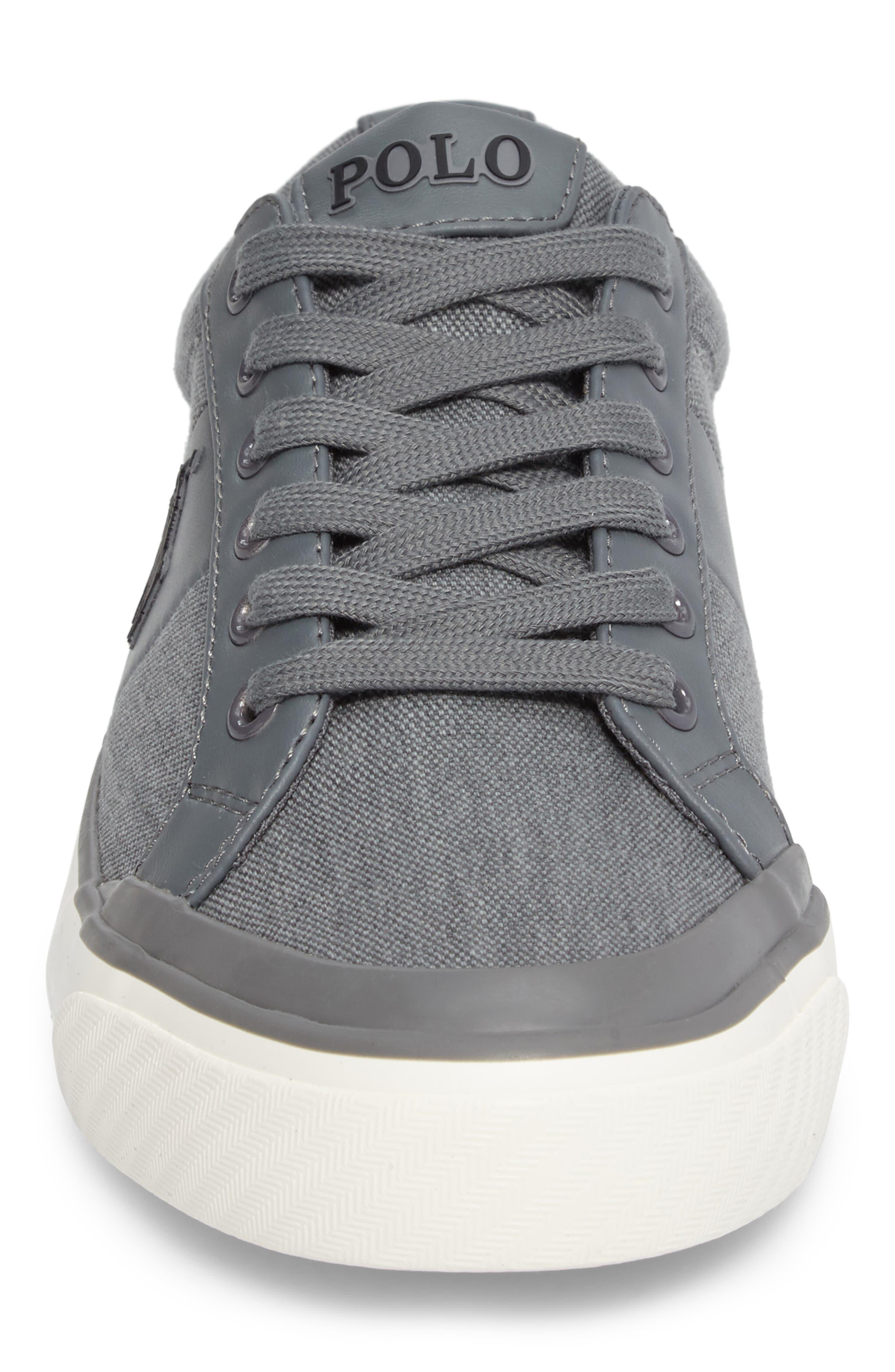 Polo Ralph Lauren Ian Sneaker,                             Alternate thumbnail 4, color,                             Slate