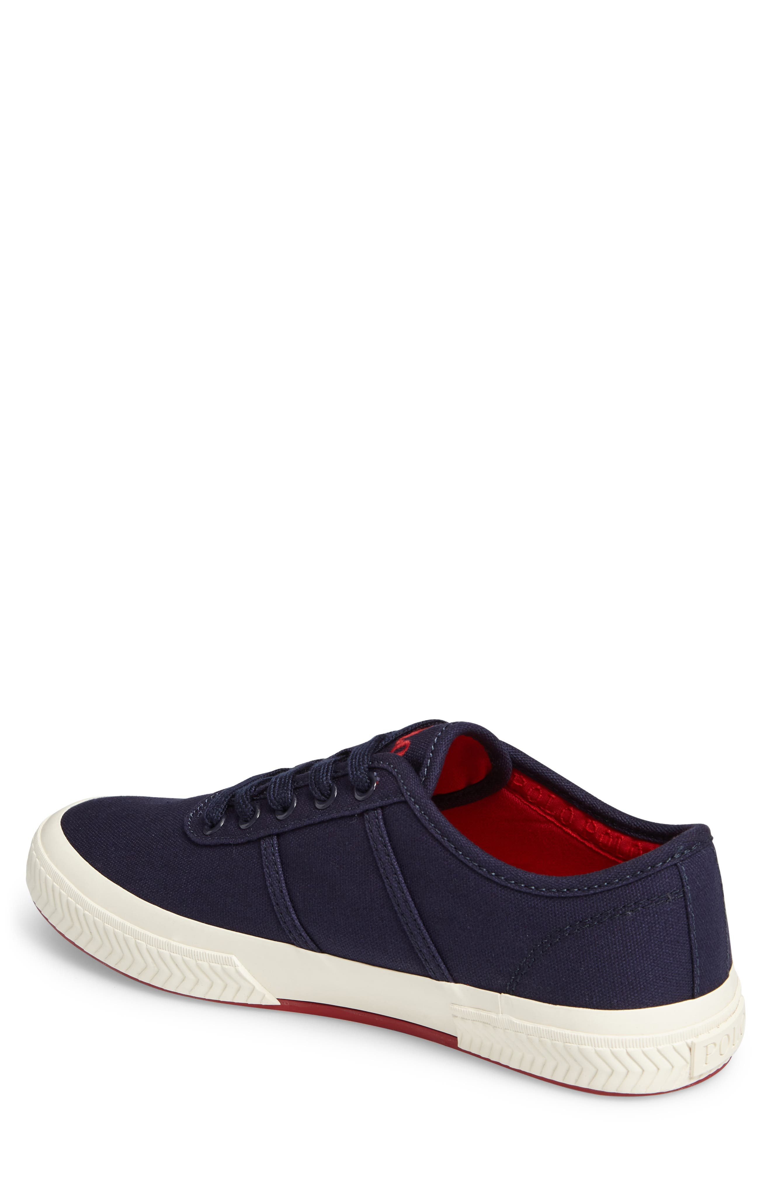 Polo Ralph Lauren Tyrian Sneaker,                             Alternate thumbnail 2, color,                             Newport Navy