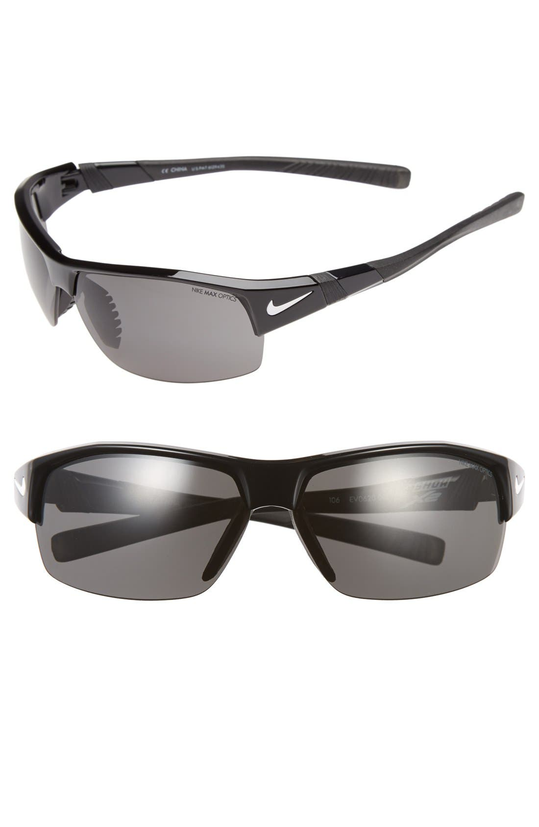 Alternate Image 1 Selected - Nike 69mm 'Show X2' Semi Rimless Sunglasses