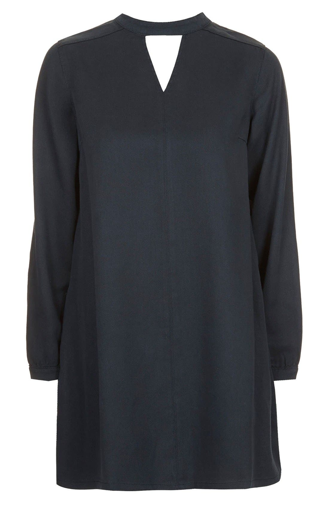 Alternate Image 3  - Topshop Boutique Long Sleeve Smock Dress