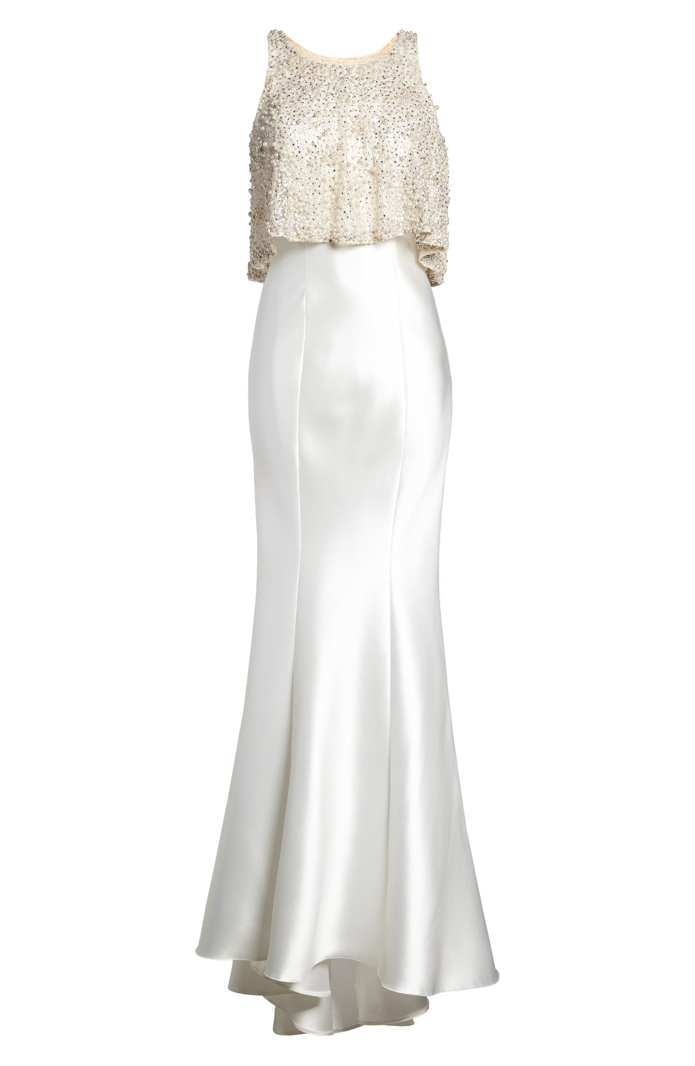 Alternate Image 6  - Mac Duggal Embellished Trumpet Gown & Shawl