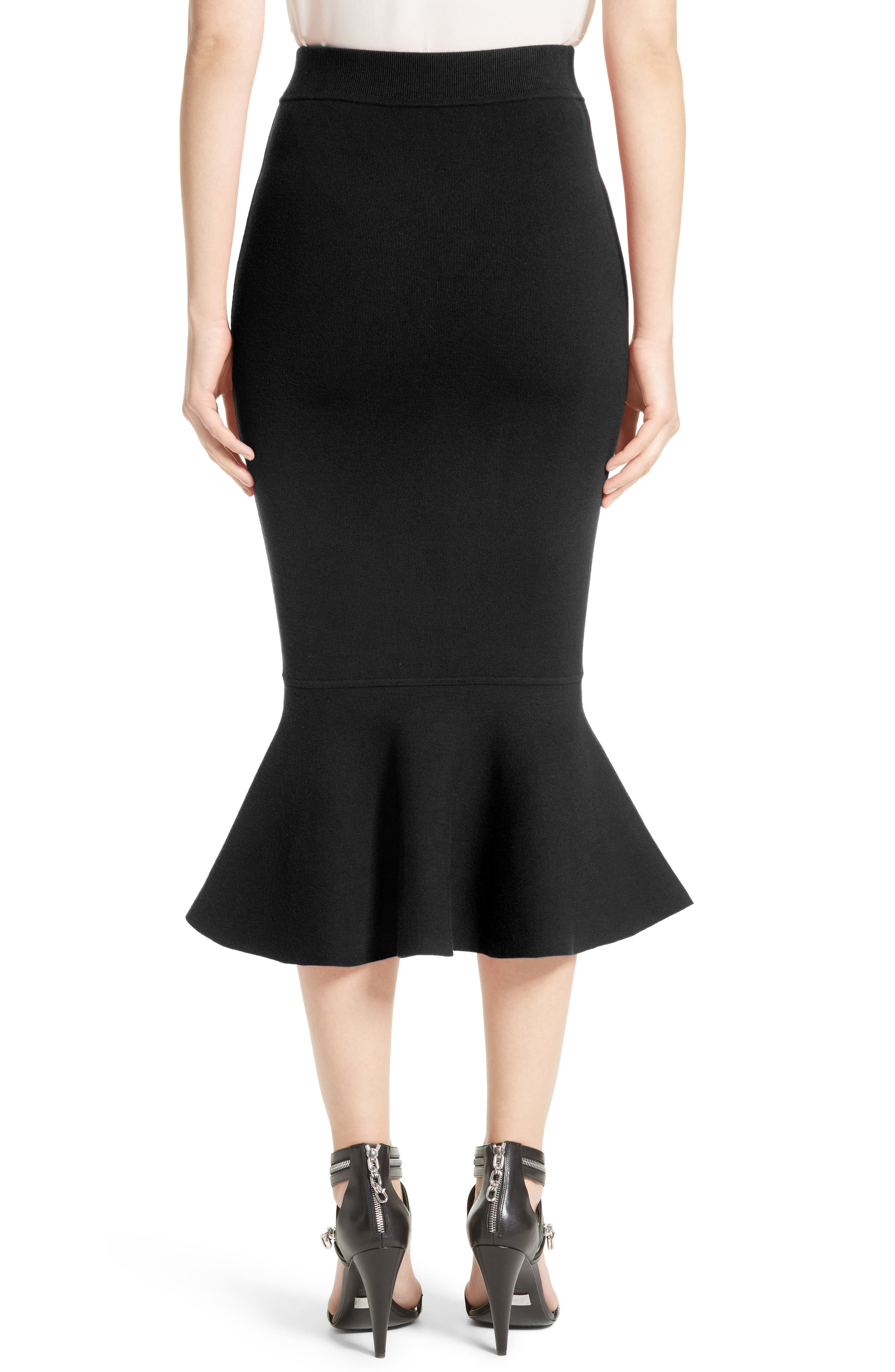 Alternate Image 2  - Michael Kors Stretch Knit Flounce Skirt