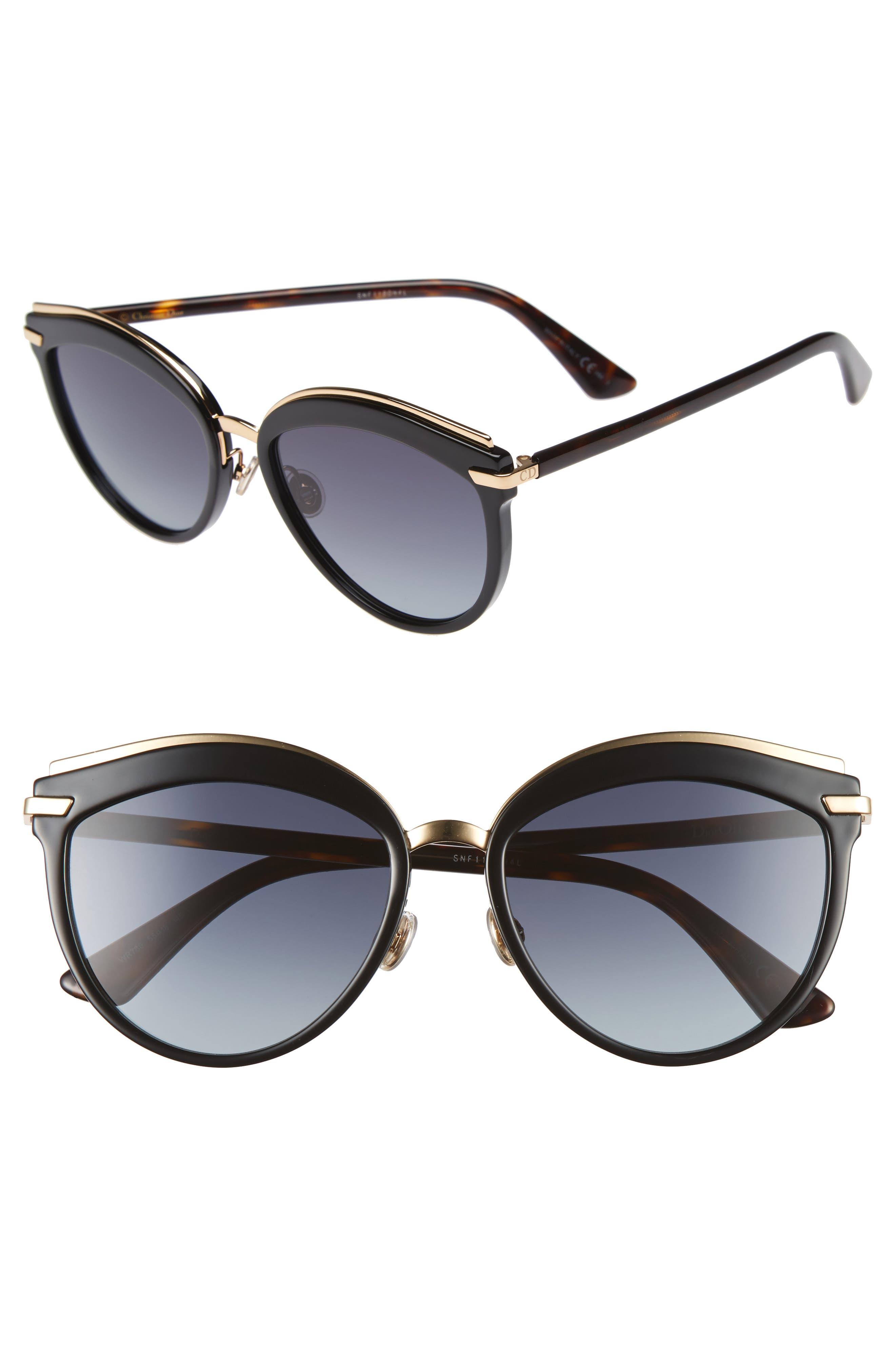 Offset 2 55mm Sunglasses,                             Main thumbnail 1, color,                             Black/ Havana