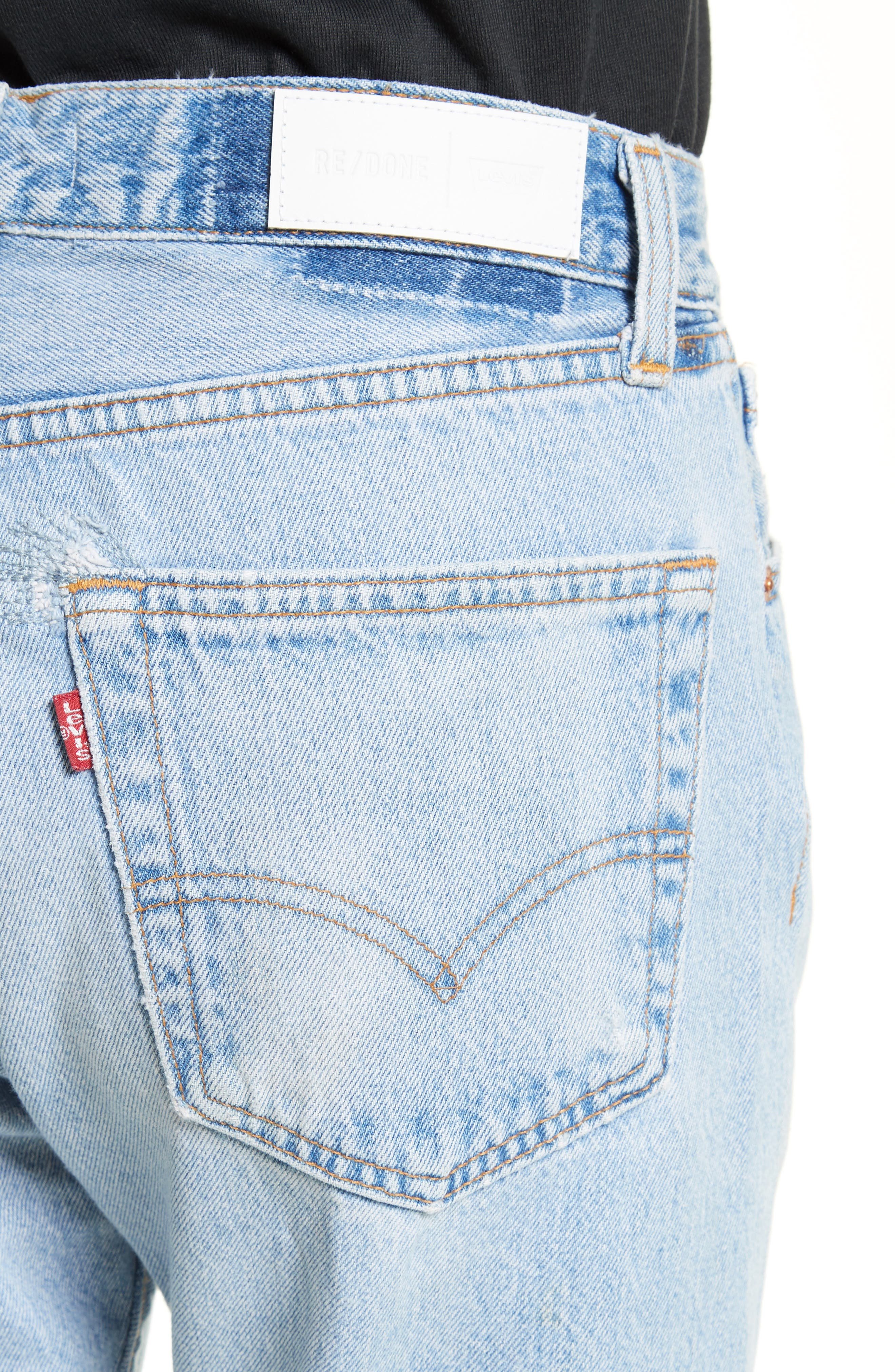Reconstructed Relaxed Straight Jeans,                             Alternate thumbnail 4, color,                             No Destruction