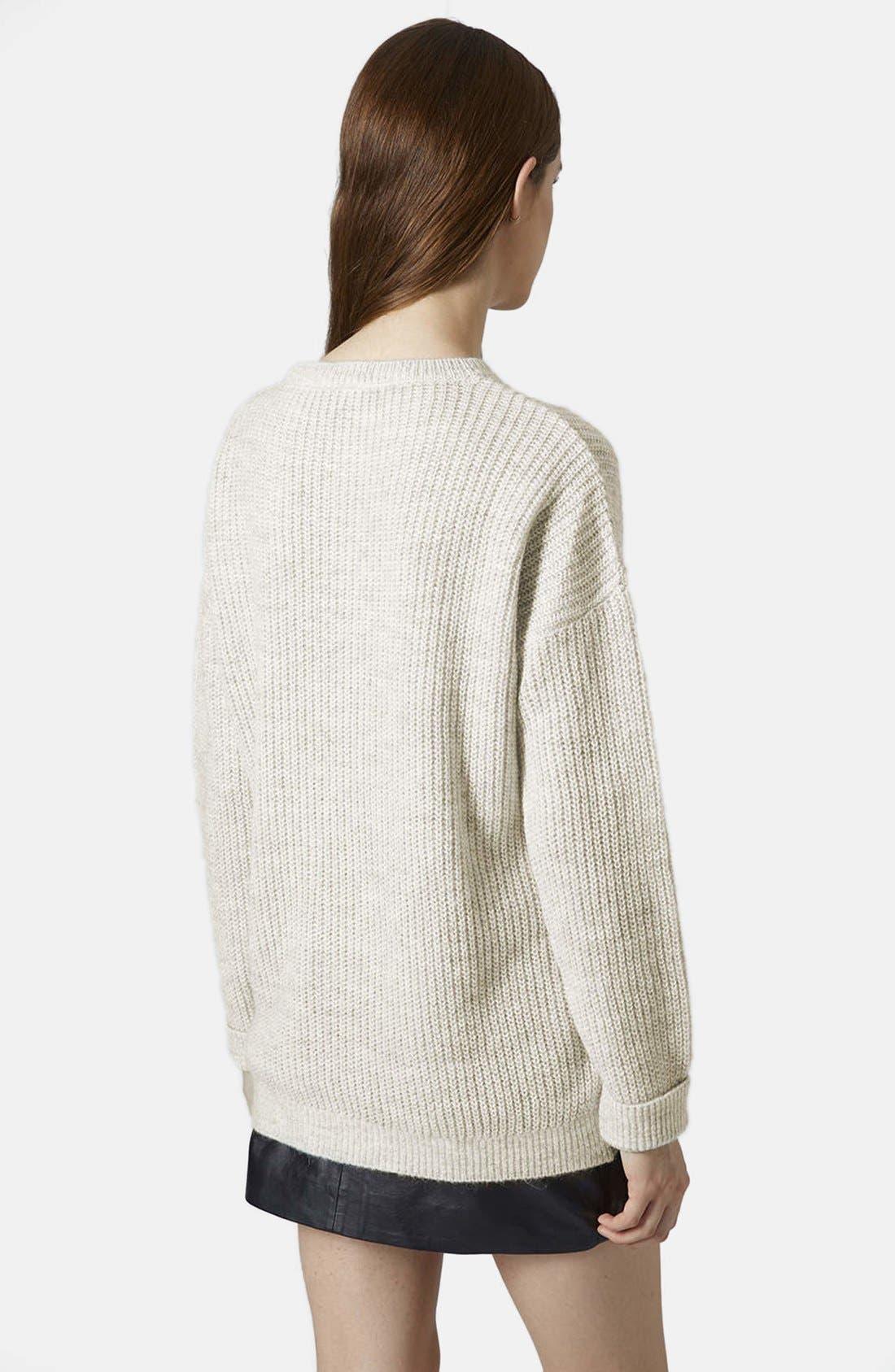 Alternate Image 4  - Topshop 'Lofty' Ribbed Sweater