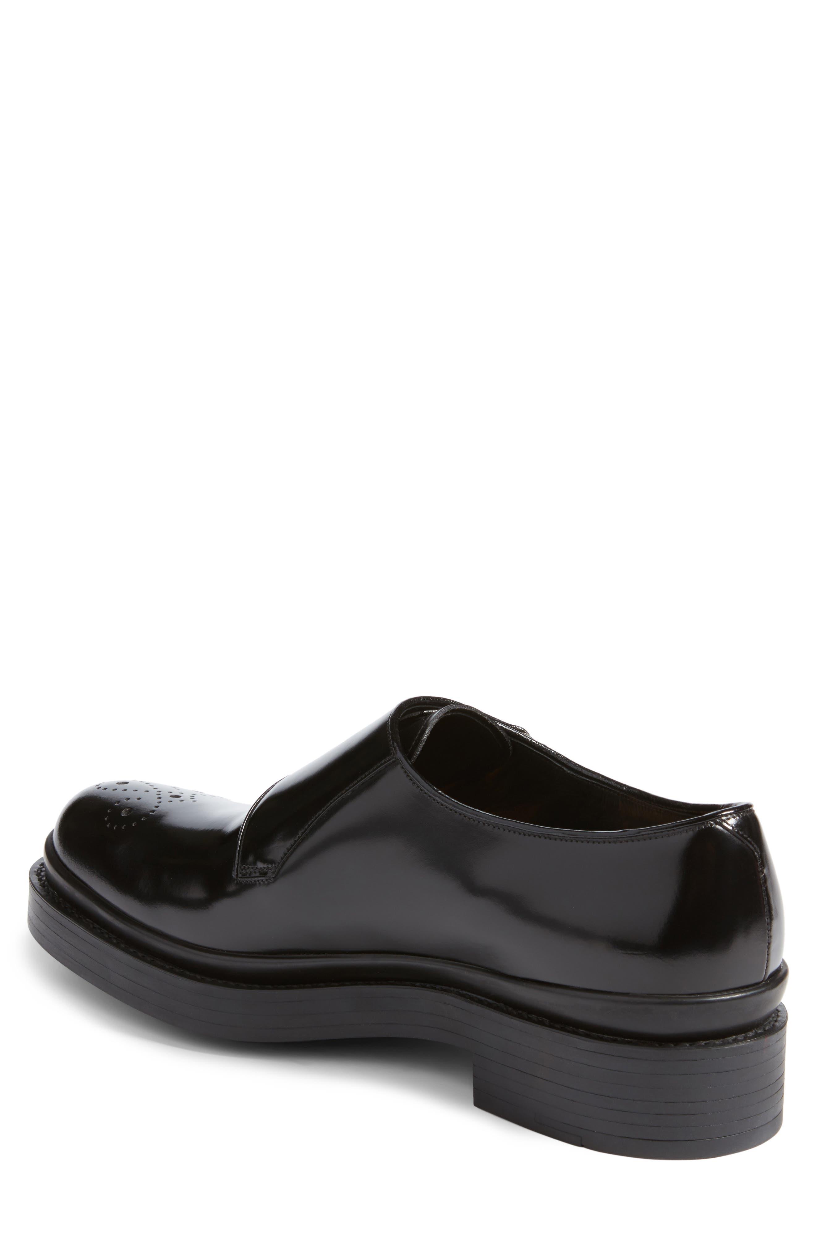 Double Monk Strap Shoe,                             Alternate thumbnail 2, color,                             Nero