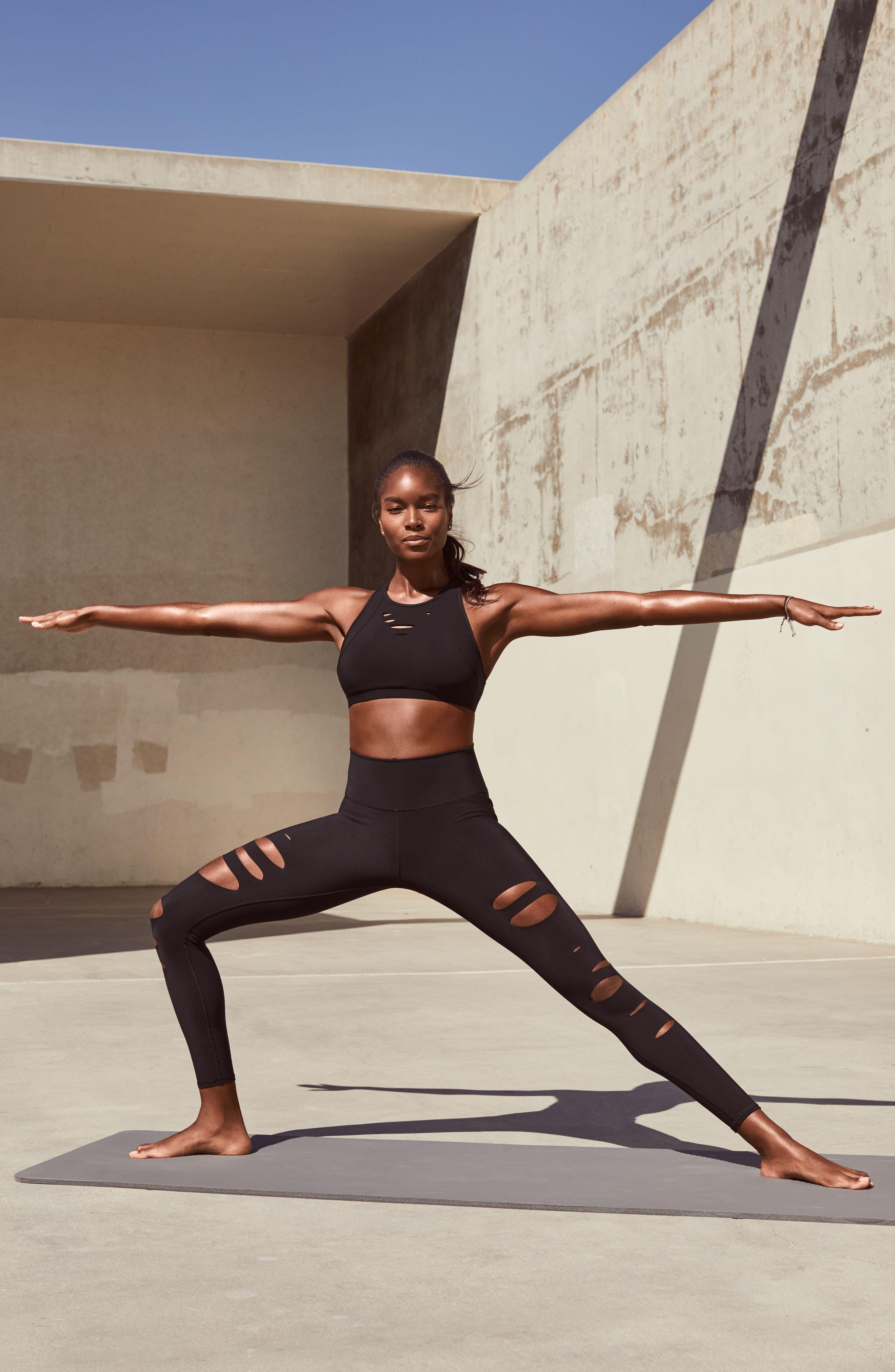 Alternate Image 8  - Alo Ripped Warrior Yoga Bra