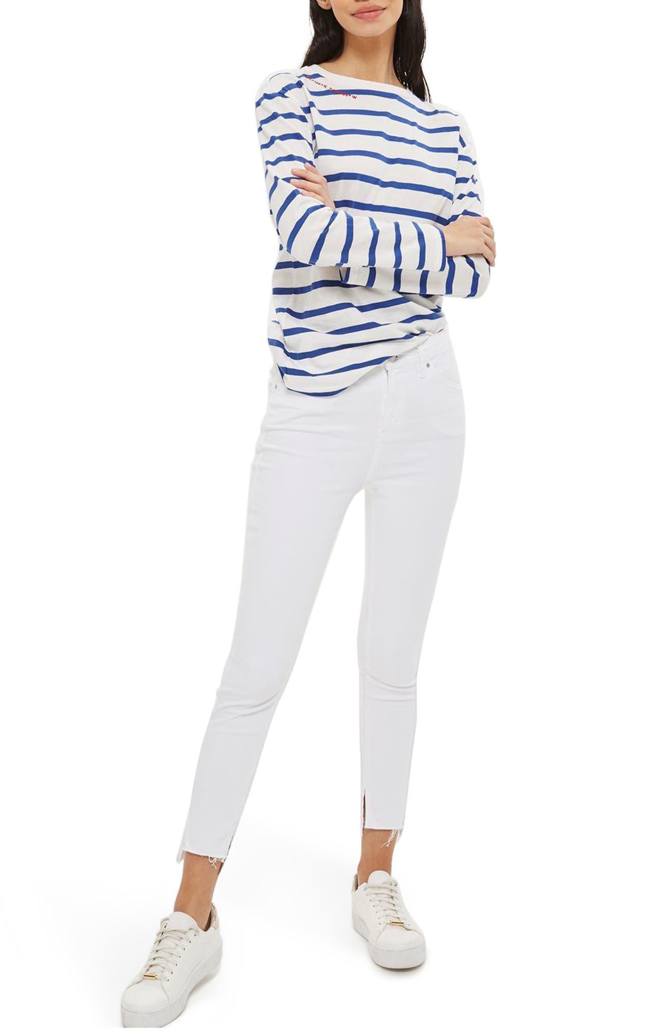 Topshop Jamie Split Hem Skinny Jeans