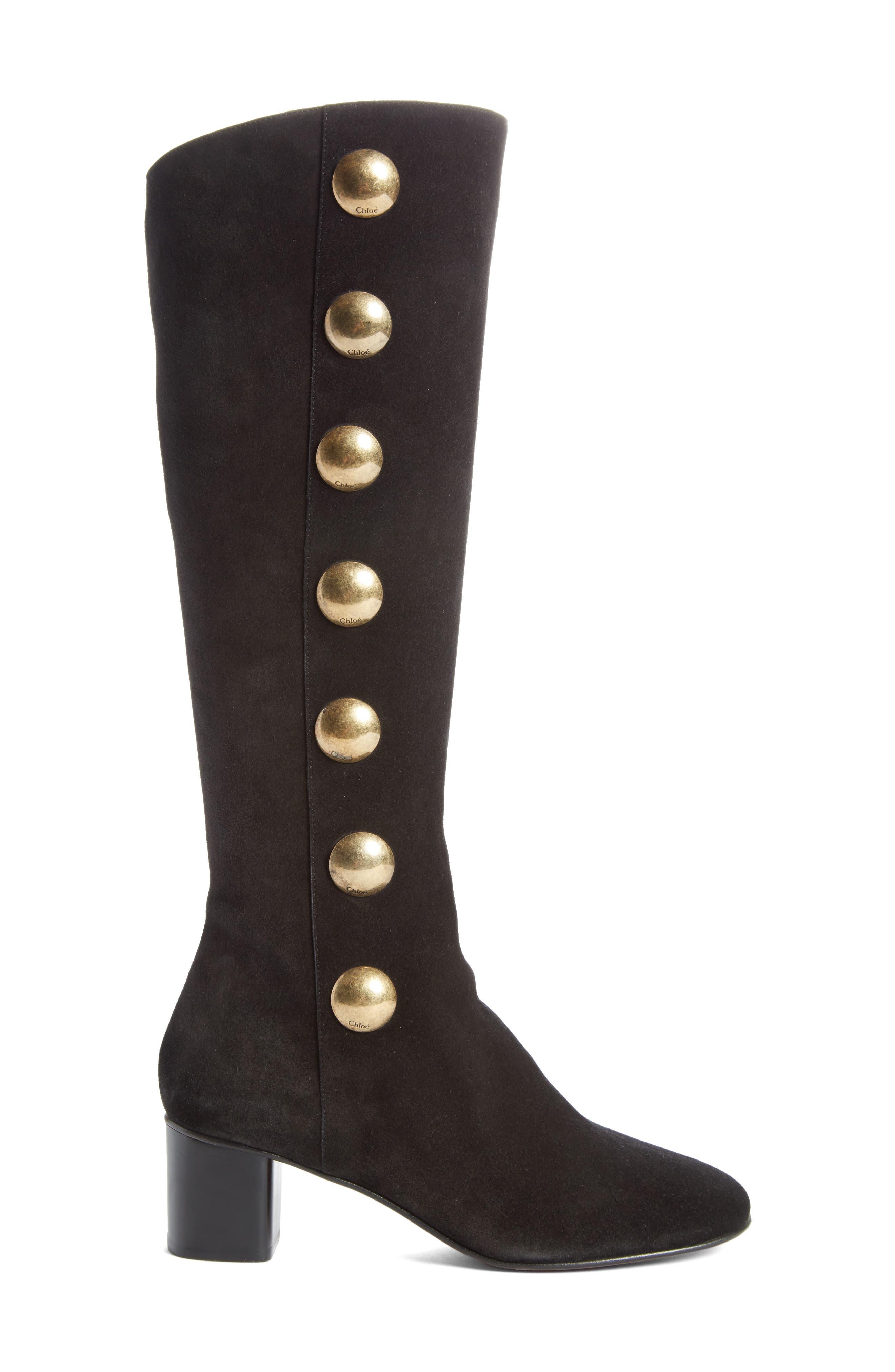 Alternate Image 4  - Chloé Orlando Tall Button Boot (Women)