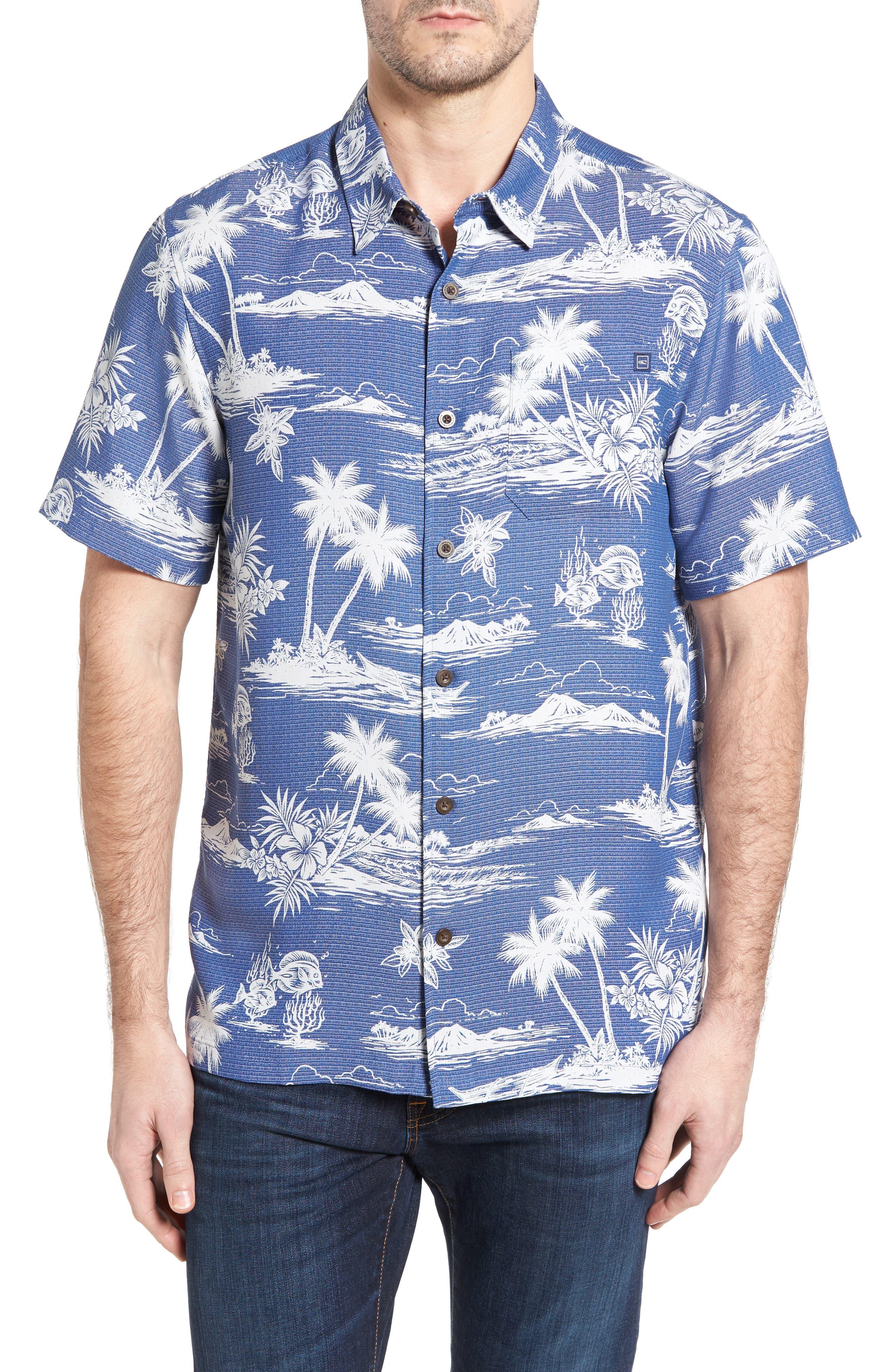 JACK ONEILL Waimea Regular Fit Print Camp Shirt