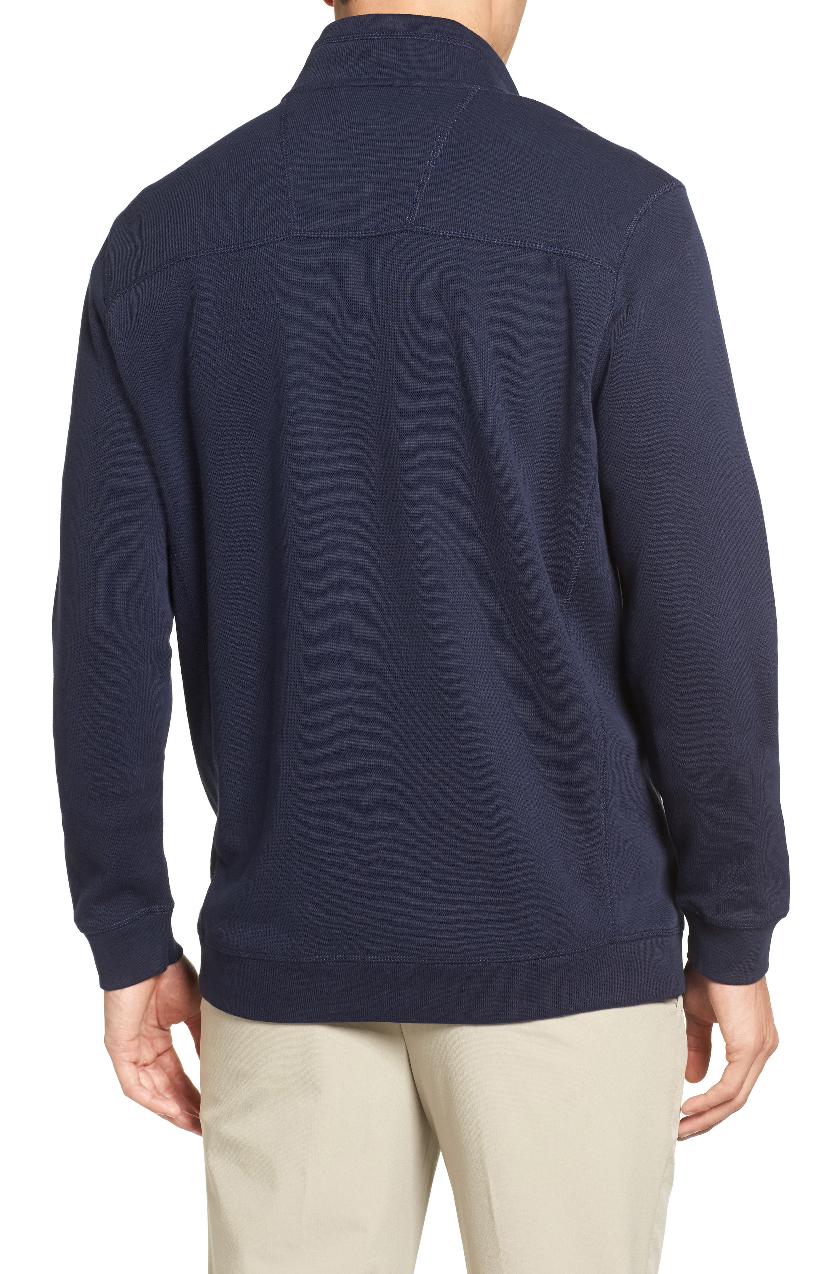 Bayview Quarter Zip Pullover,                             Alternate thumbnail 2, color,                             Liberty Navy
