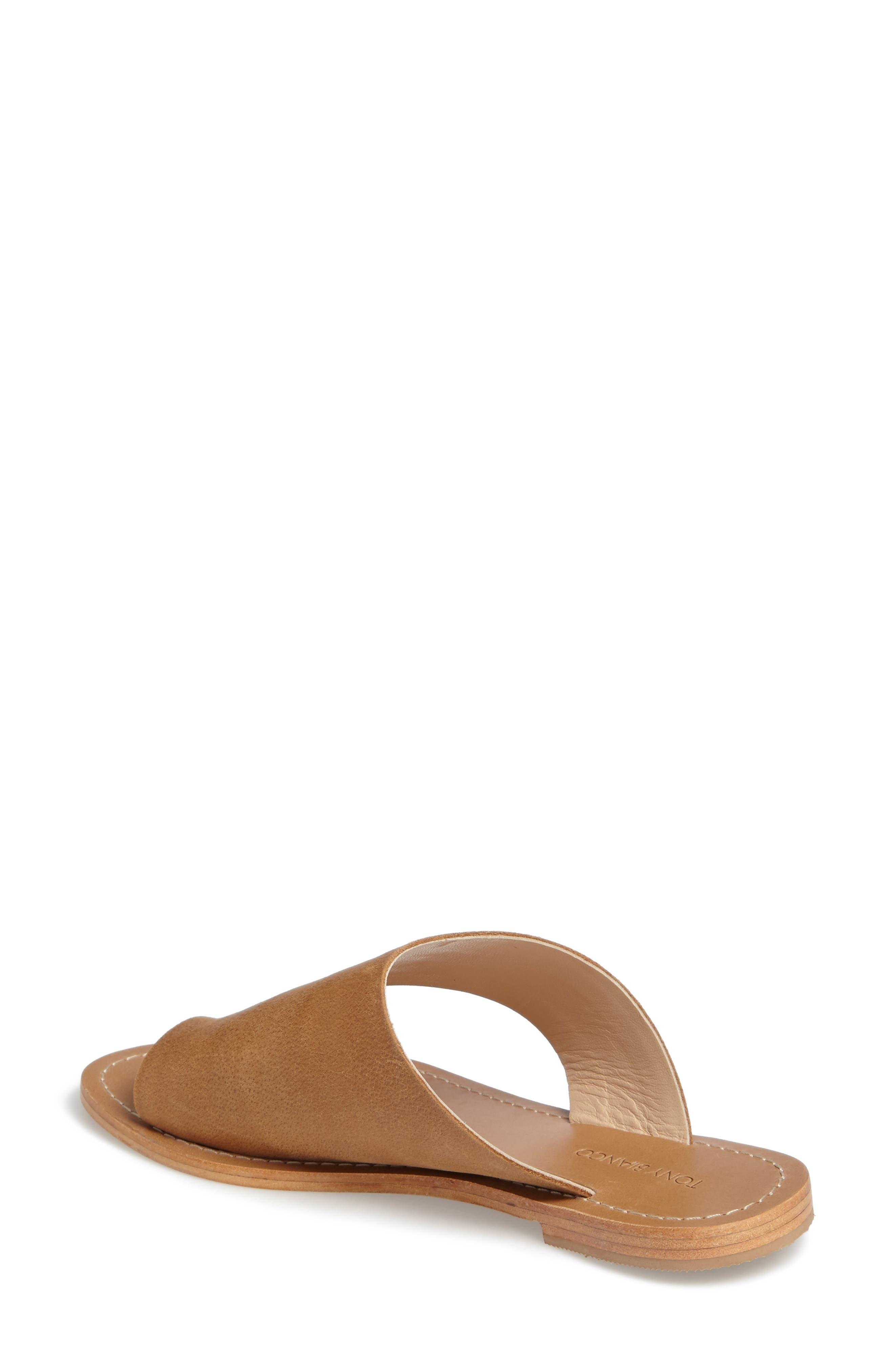 Fleet Slide Sandal,                             Alternate thumbnail 2, color,                             Tan Leather