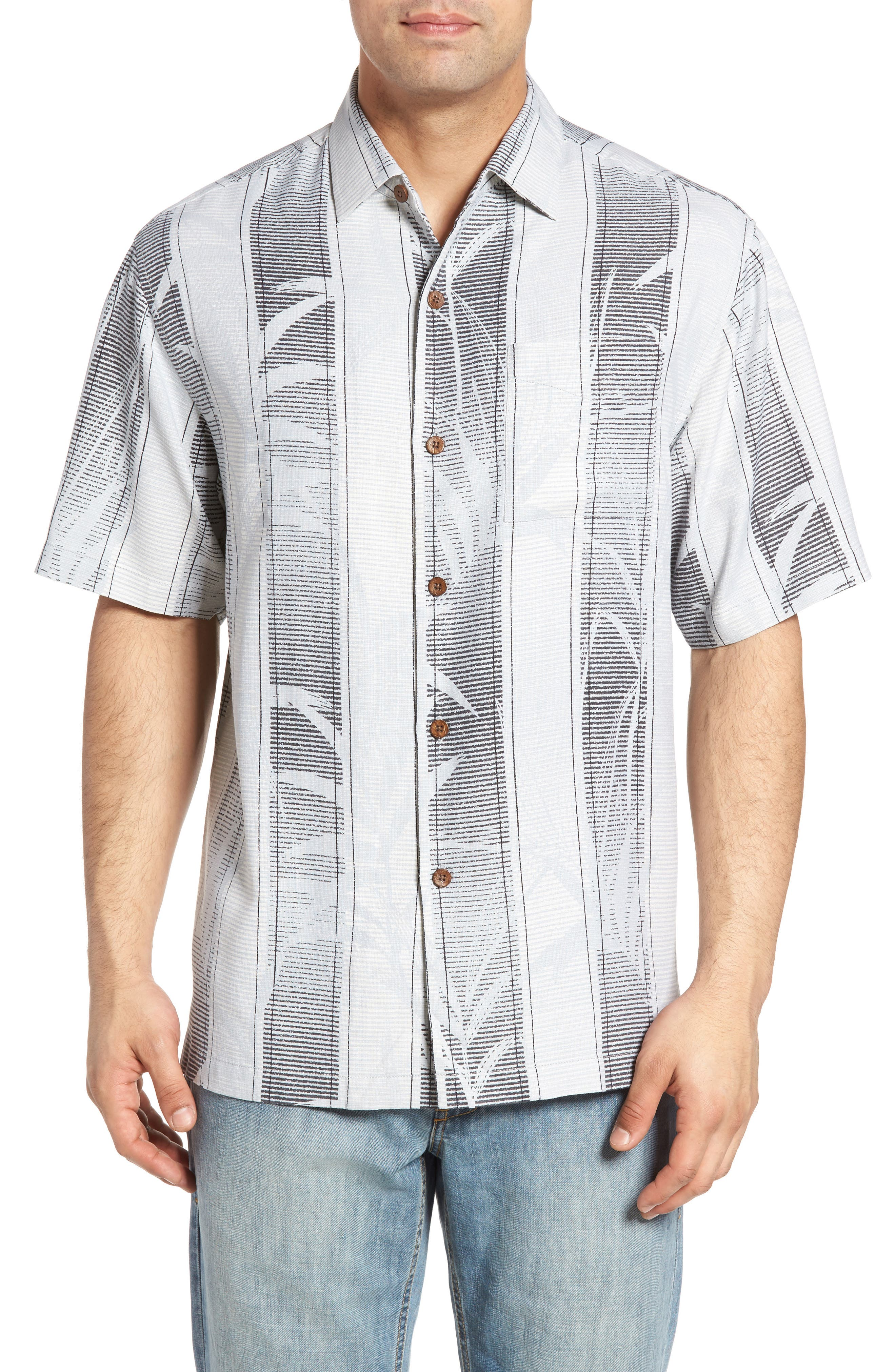 TOMMY BAHAMA Shades of Bamboo Silk Camp Shirt
