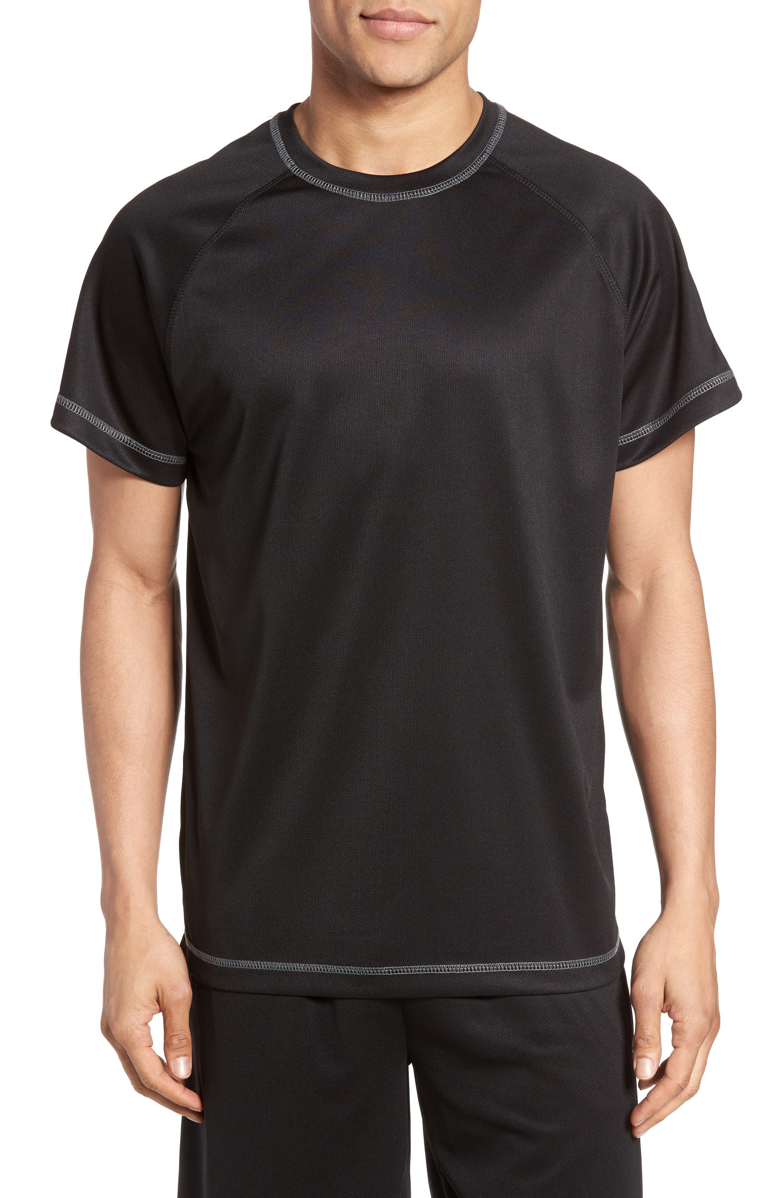 Work Out Crewneck T-Shirt,                             Main thumbnail 1, color,                             Black