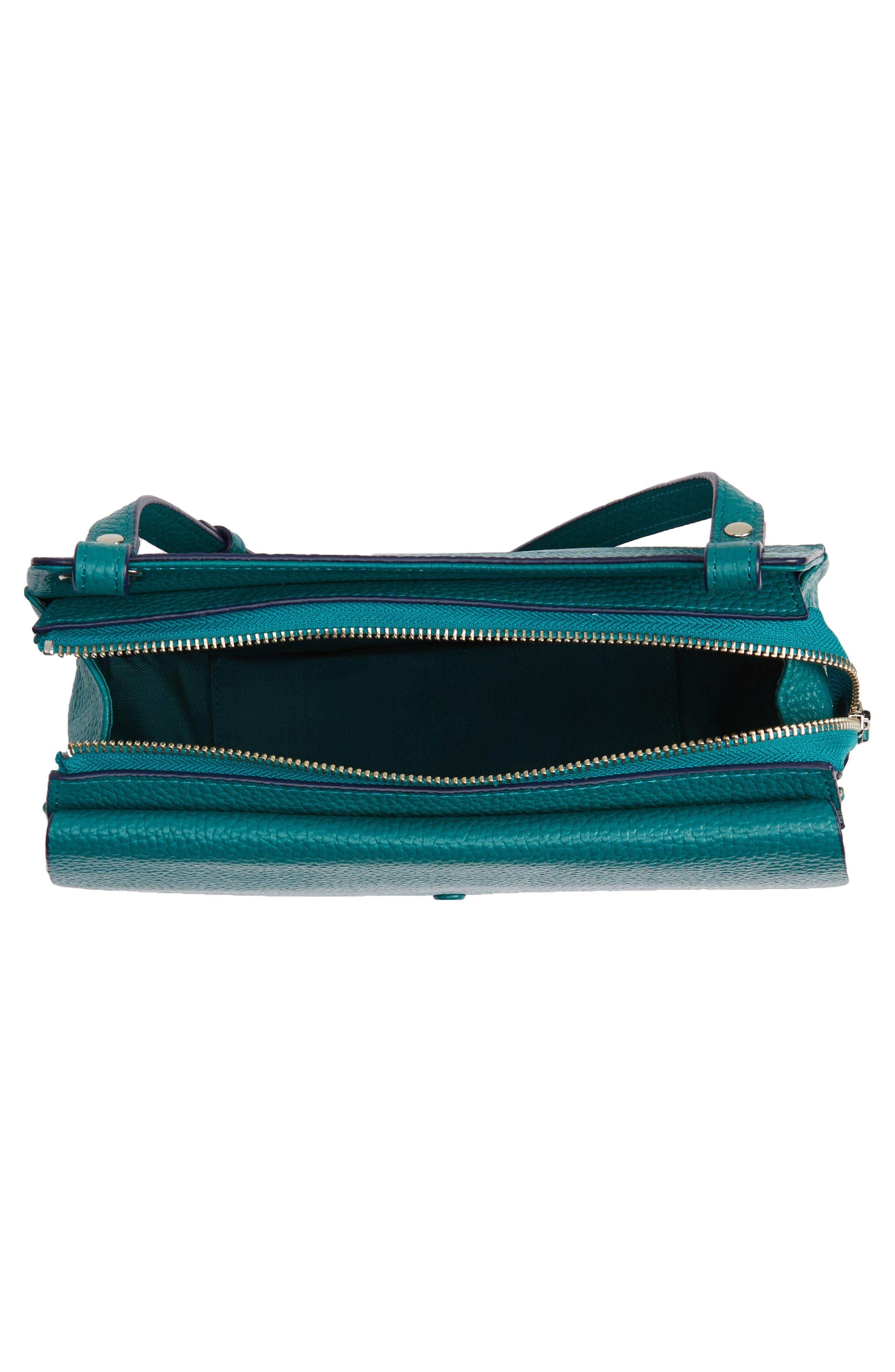 Alternate Image 3  - Halogen® Leather Saddle Bag