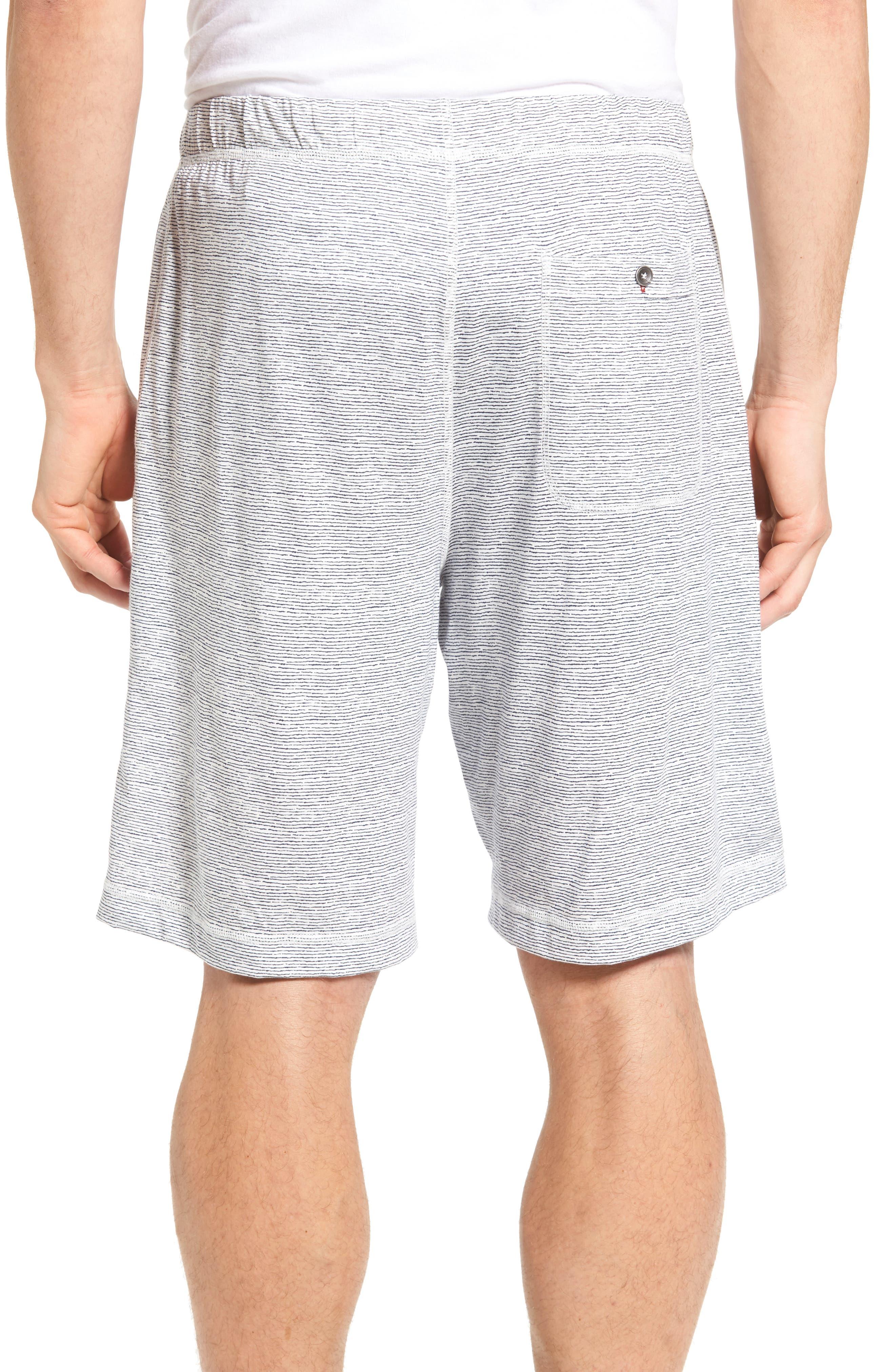Feeder Stripe Pima Cotton & Modal Lounge Shorts,                             Alternate thumbnail 2, color,                             Blue