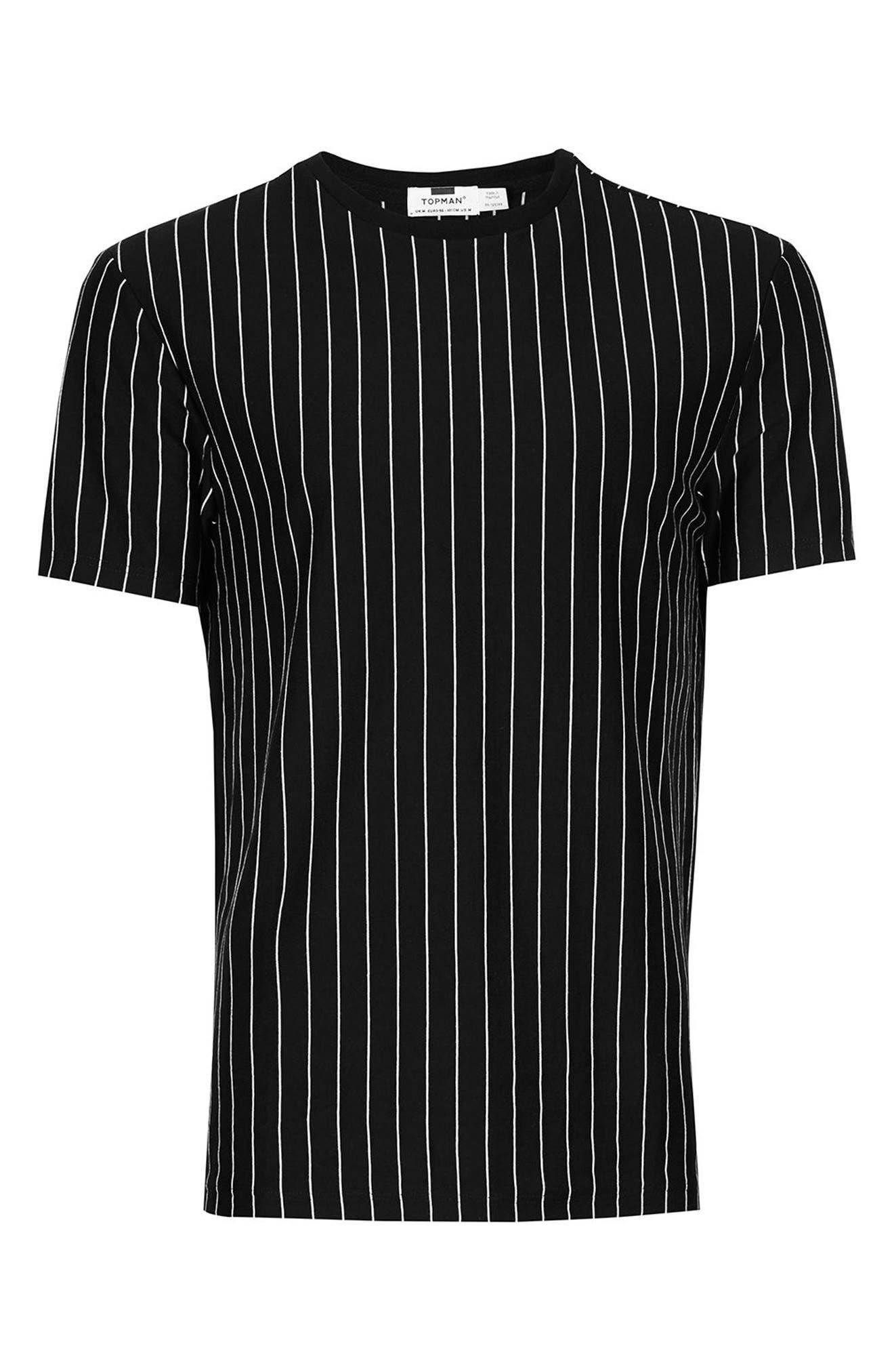 Vertical Stripe T-Shirt,                             Alternate thumbnail 5, color,                             Black Multi