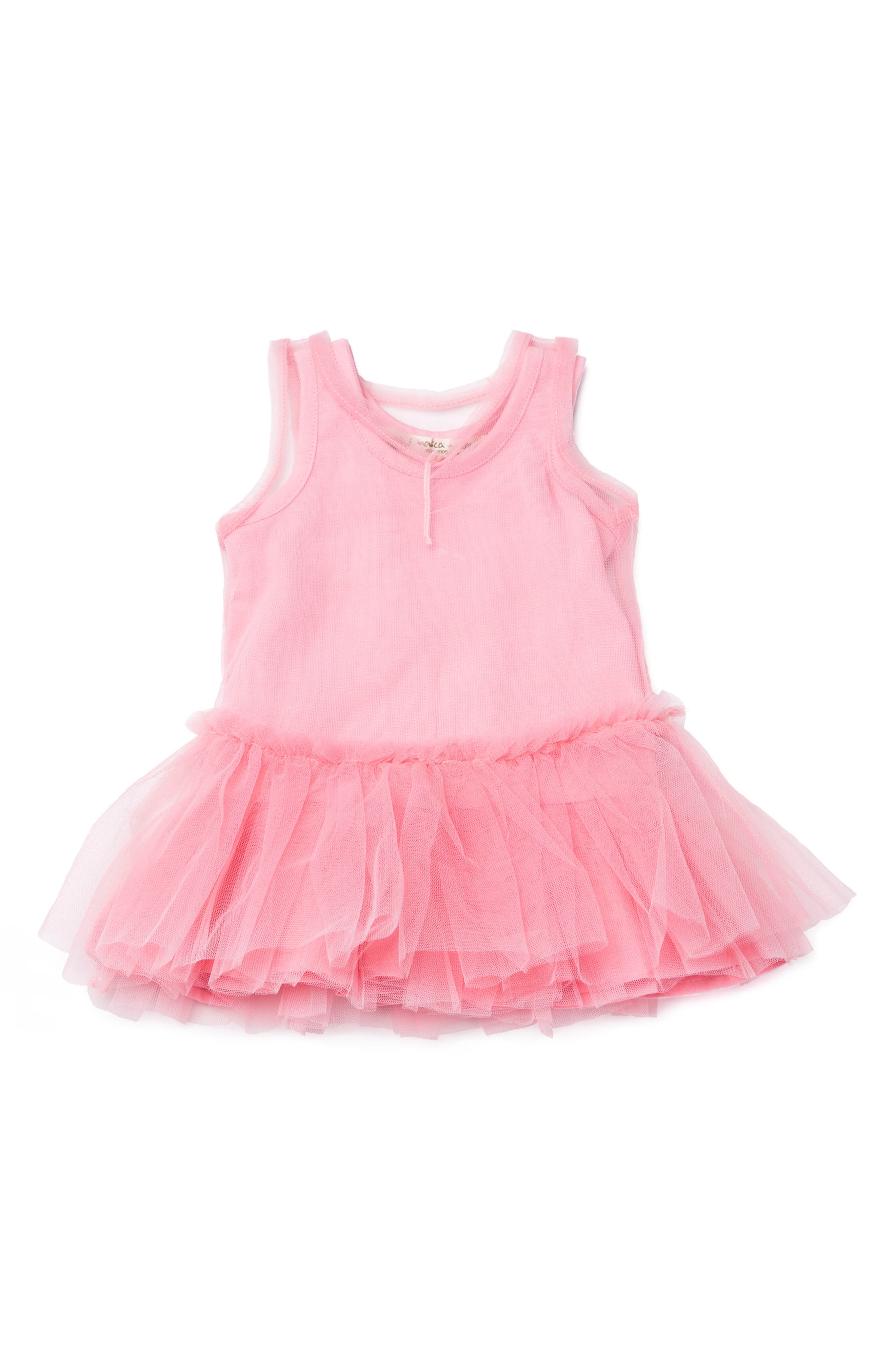 Main Image - Monica + Andy Little Belle Organic Cotton & Tulle Dress (Baby Girls)