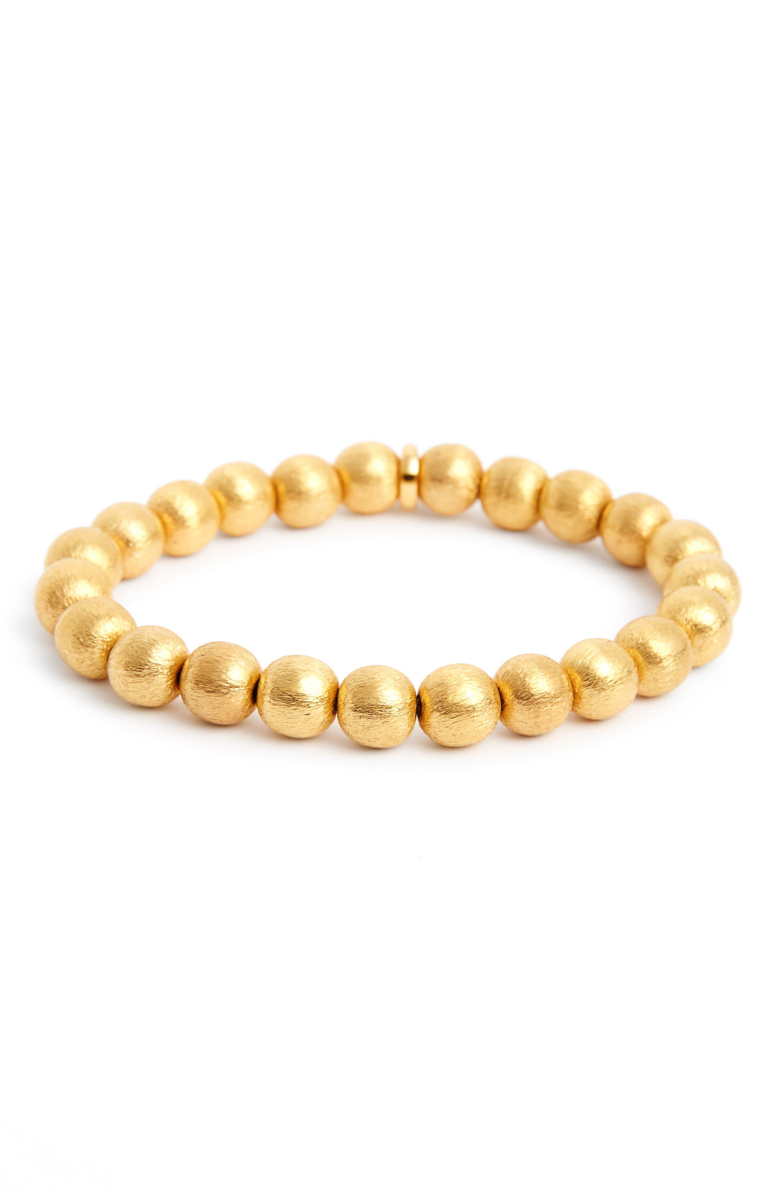 Sphere Zen Elastic Bracelet,                         Main,                         color, Gold