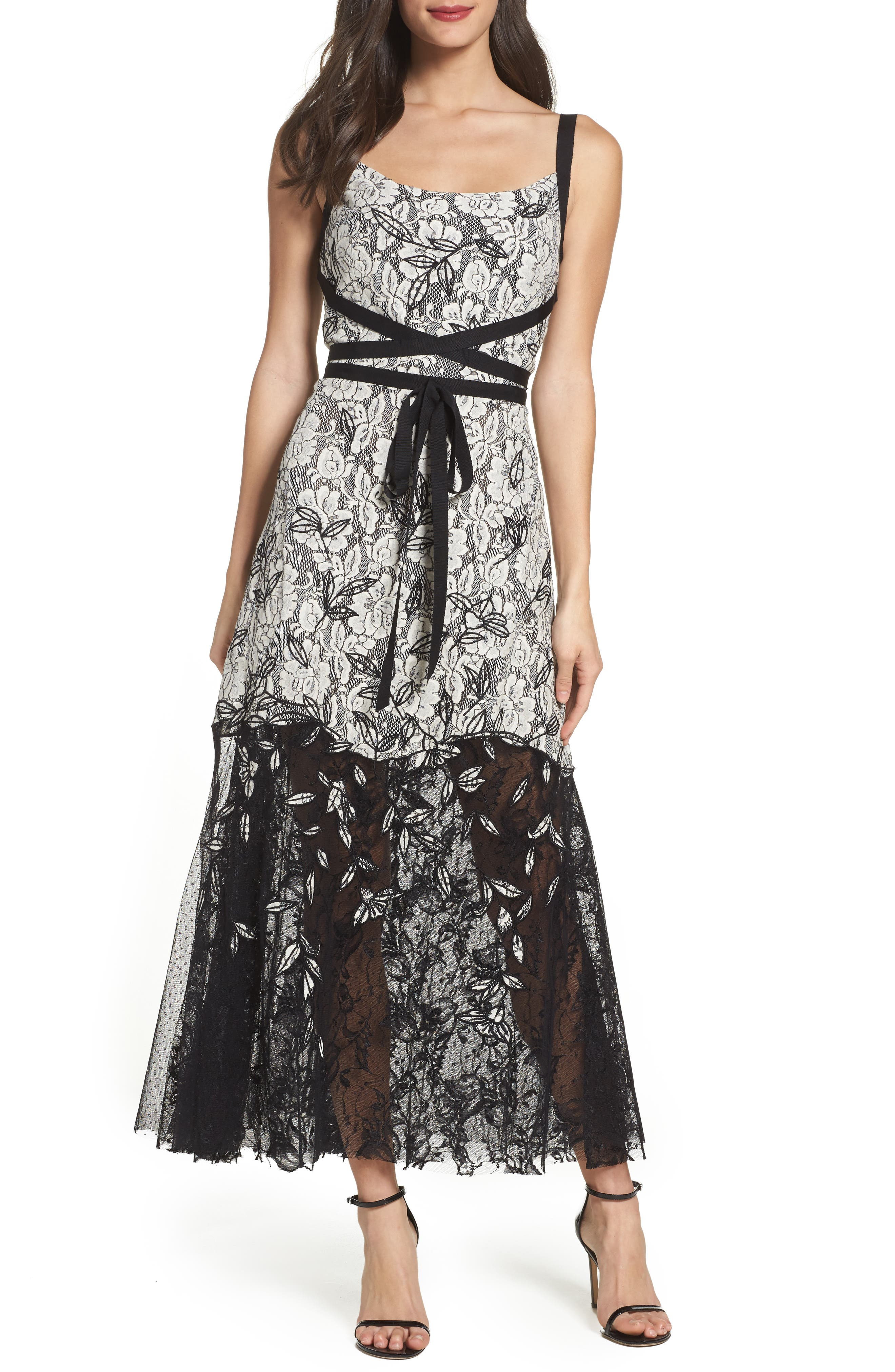 Main Image - Sachin & Babi Noir Rose Lace Gown