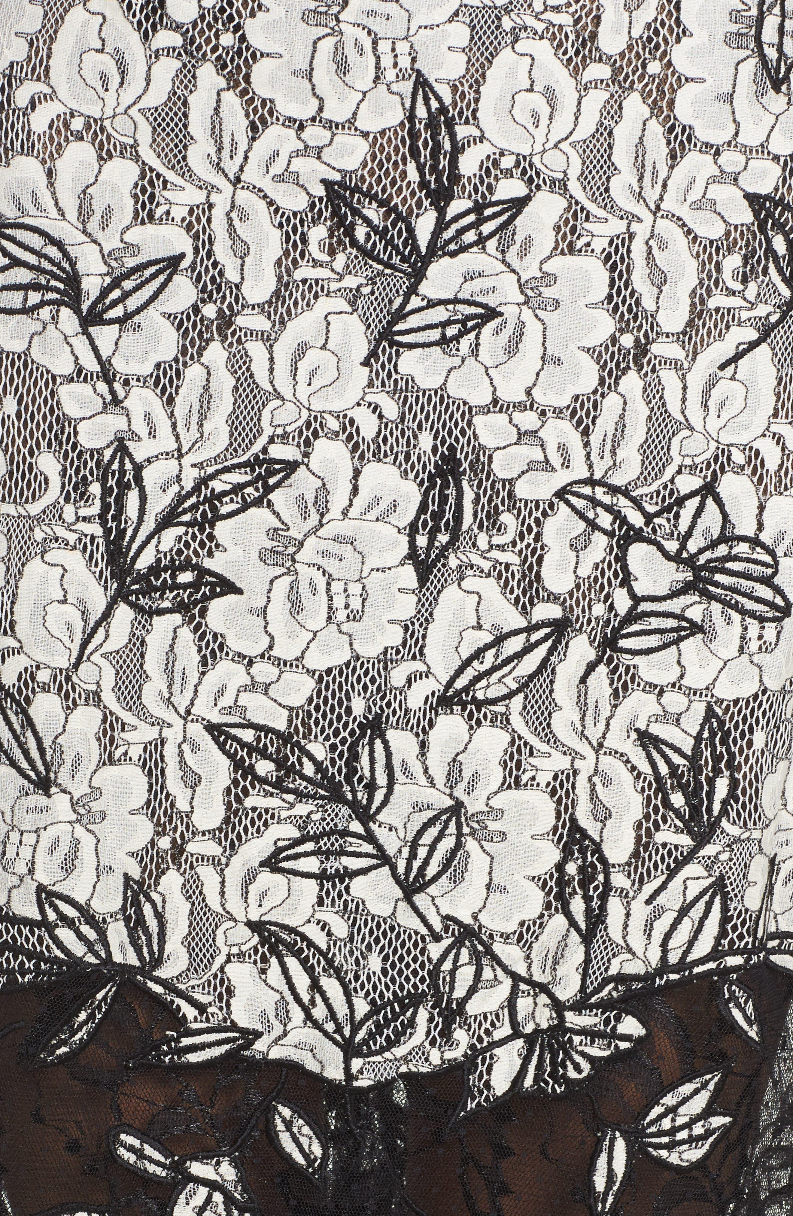 Alternate Image 5  - Sachin & Babi Noir Rose Lace Gown