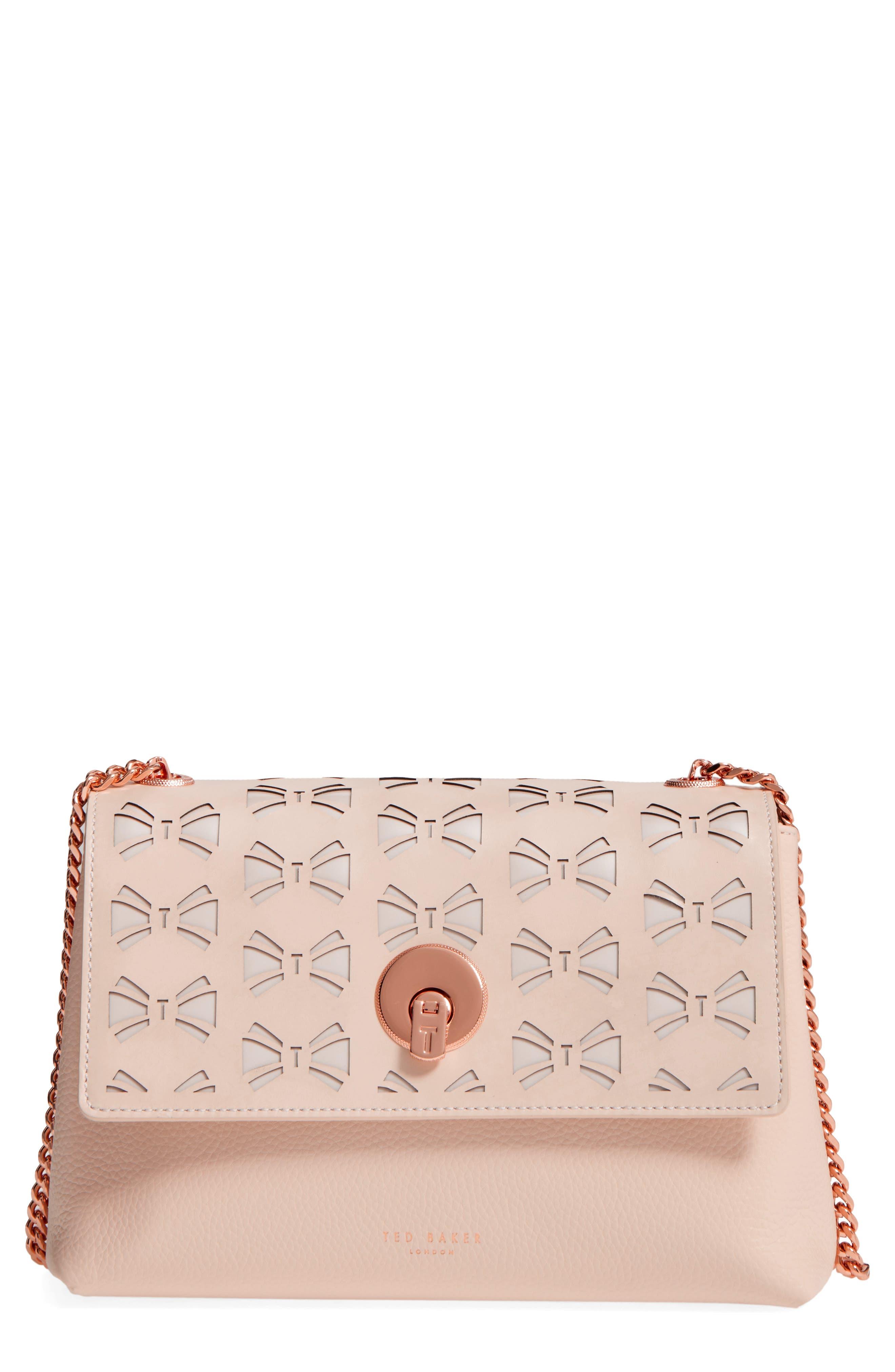 Main Image - Ted Baker London Leather Crossbody Bag