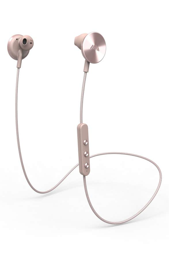 Pretty rose gold headphones