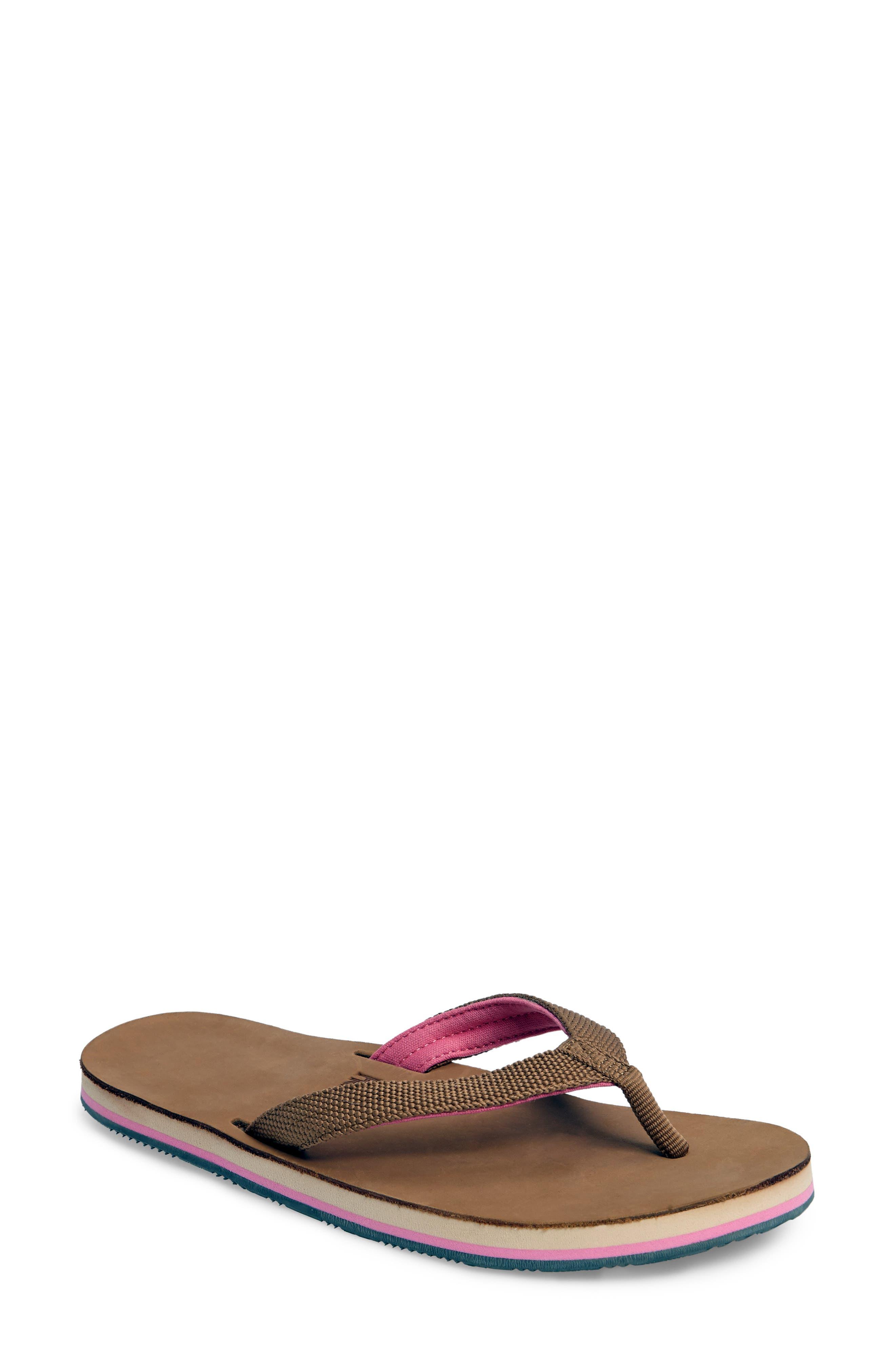Scouts Flip Flop,                             Main thumbnail 1, color,                             Tan/ Shell Pink