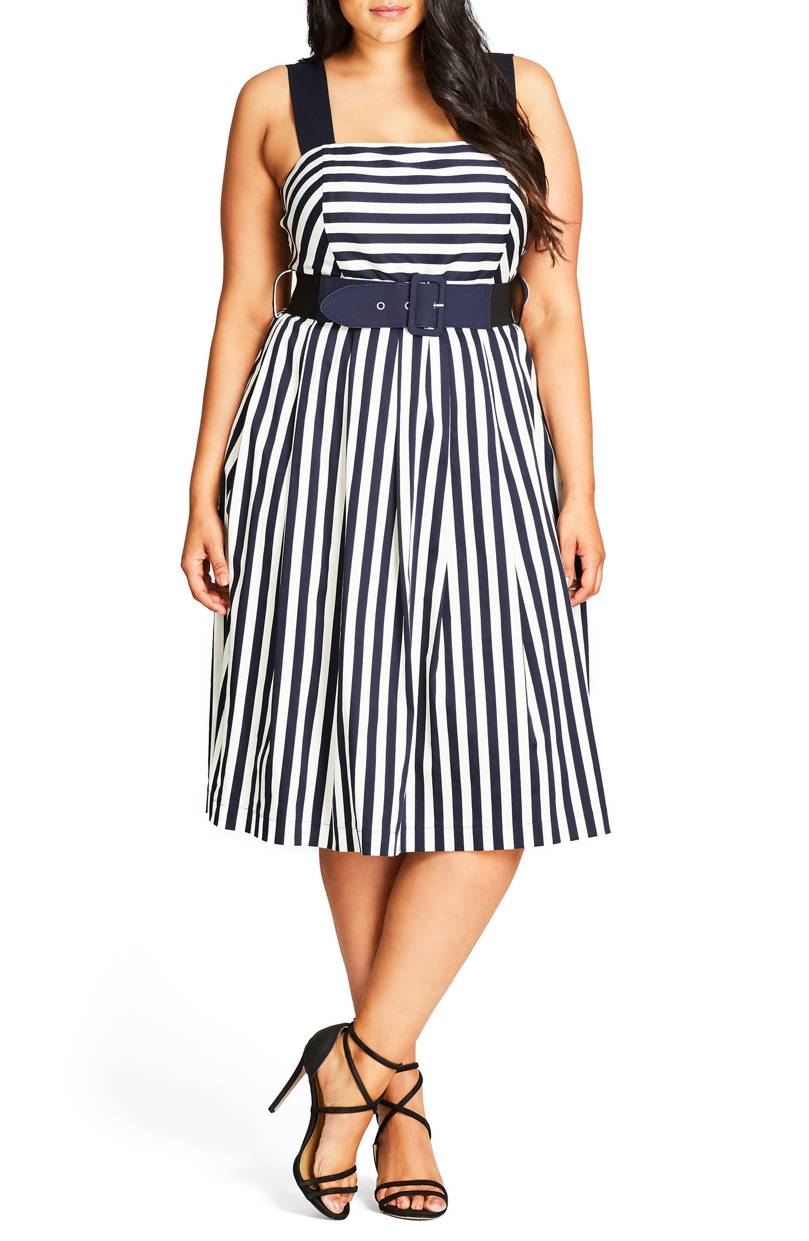 City Chic So Fab Stripe Sundress (Plus Size)