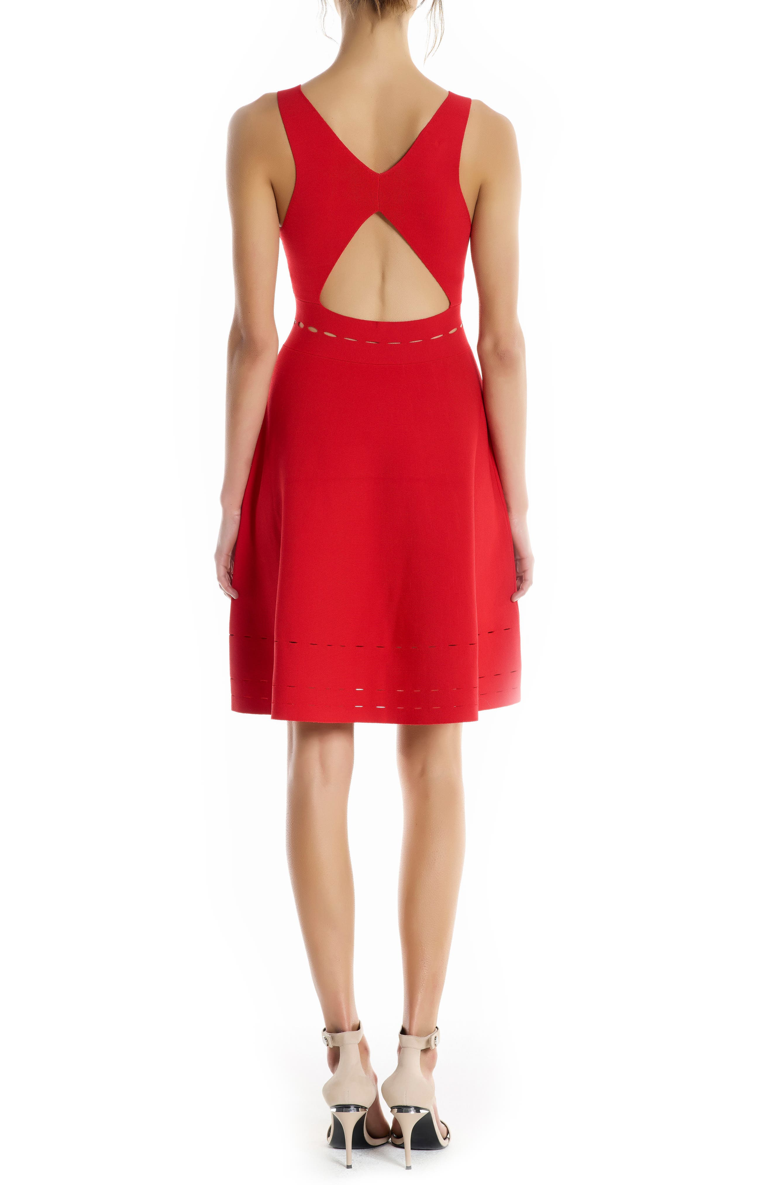 Alternate Image 2  - KENDALL + KYLIE Pointelle Cutout Dress