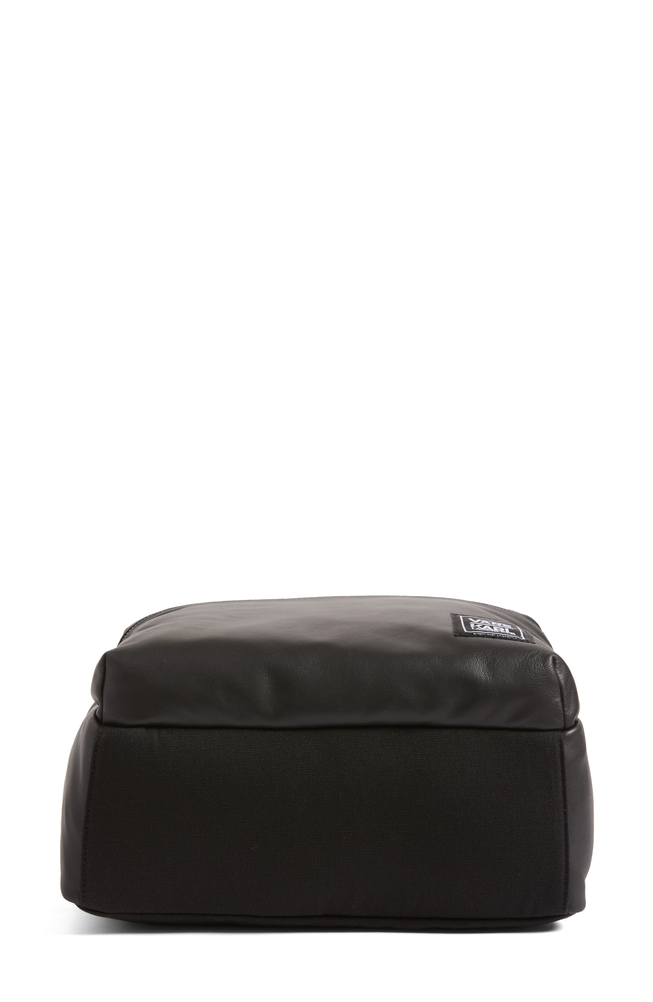 Alternate Image 6  - Vans x KARL LAGERFELD Quilted Leather Backpack