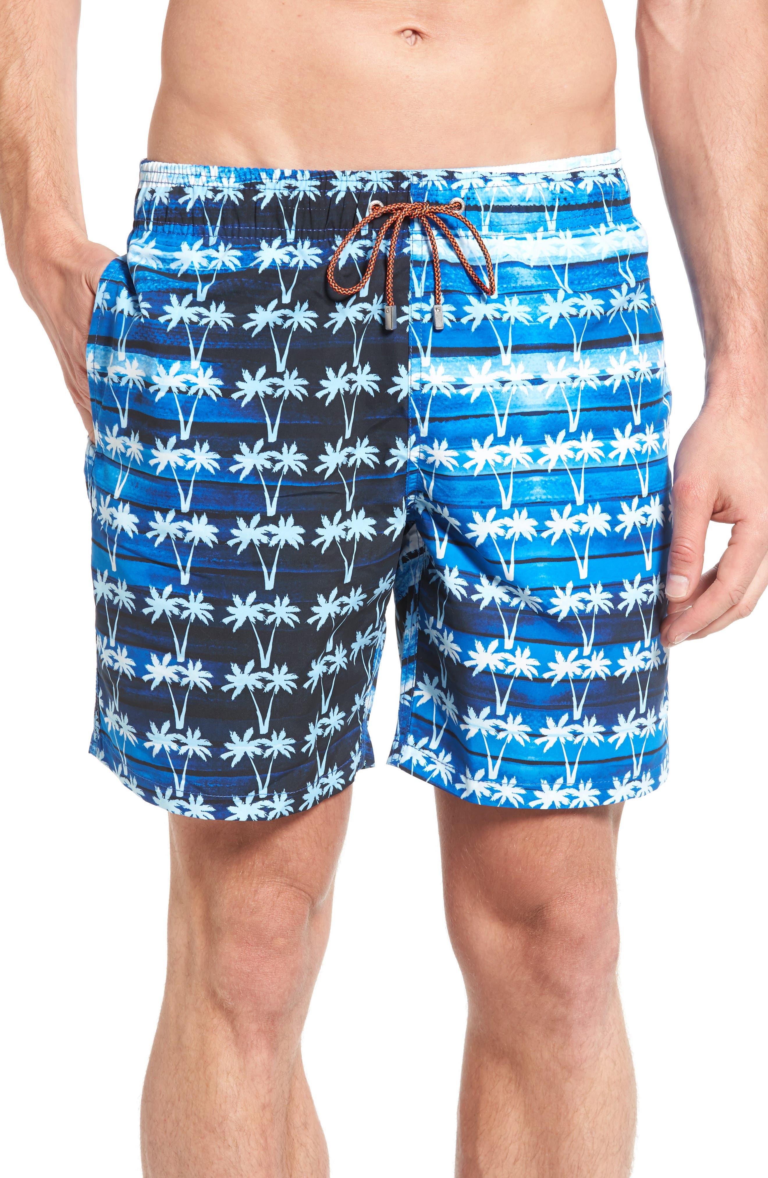 Alternate Image 1 Selected - Bugatchi Print Swim Trunks