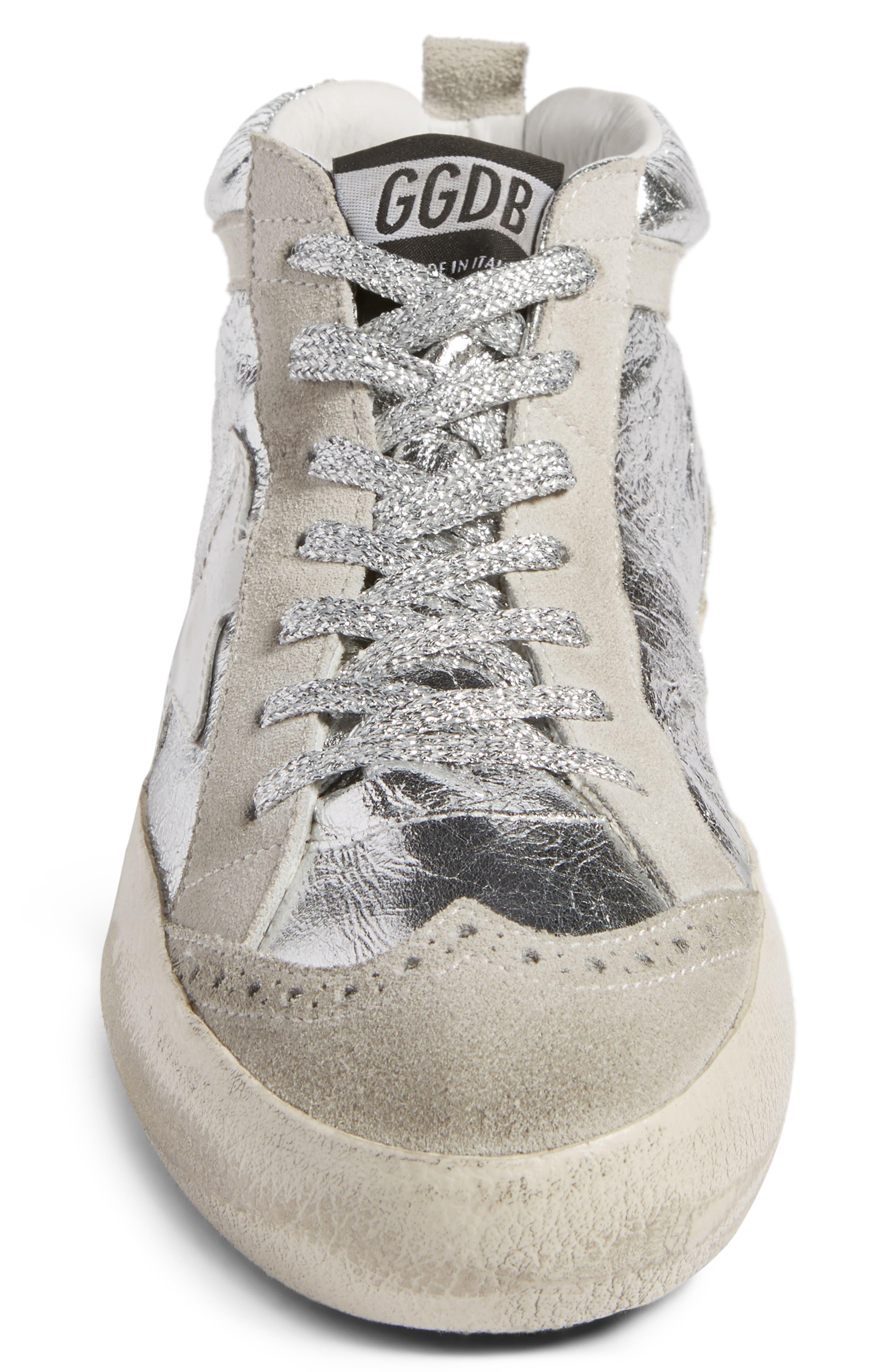Alternate Image 4  - Golden Goose Mid Star Metallic Sneaker (Women)