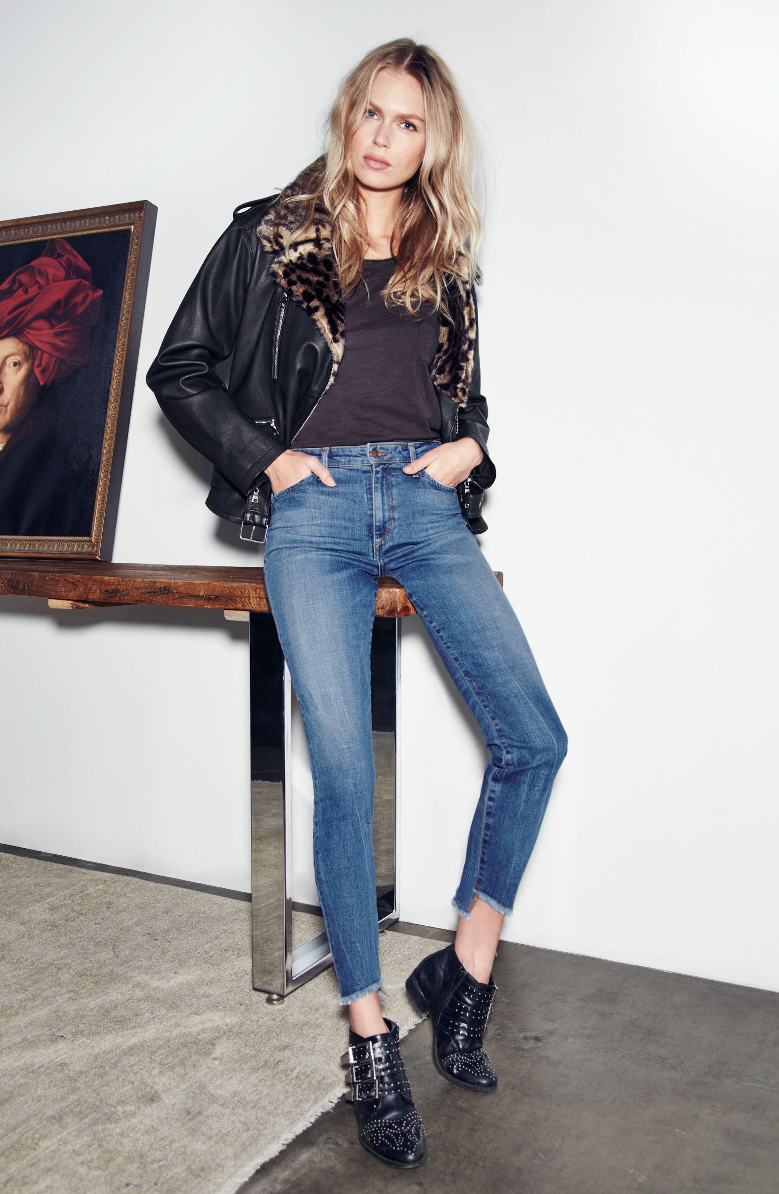 Alternate Image 2  - Joe's Charlie - Blondie High Rise Ankle Skinny Jeans (Kody)
