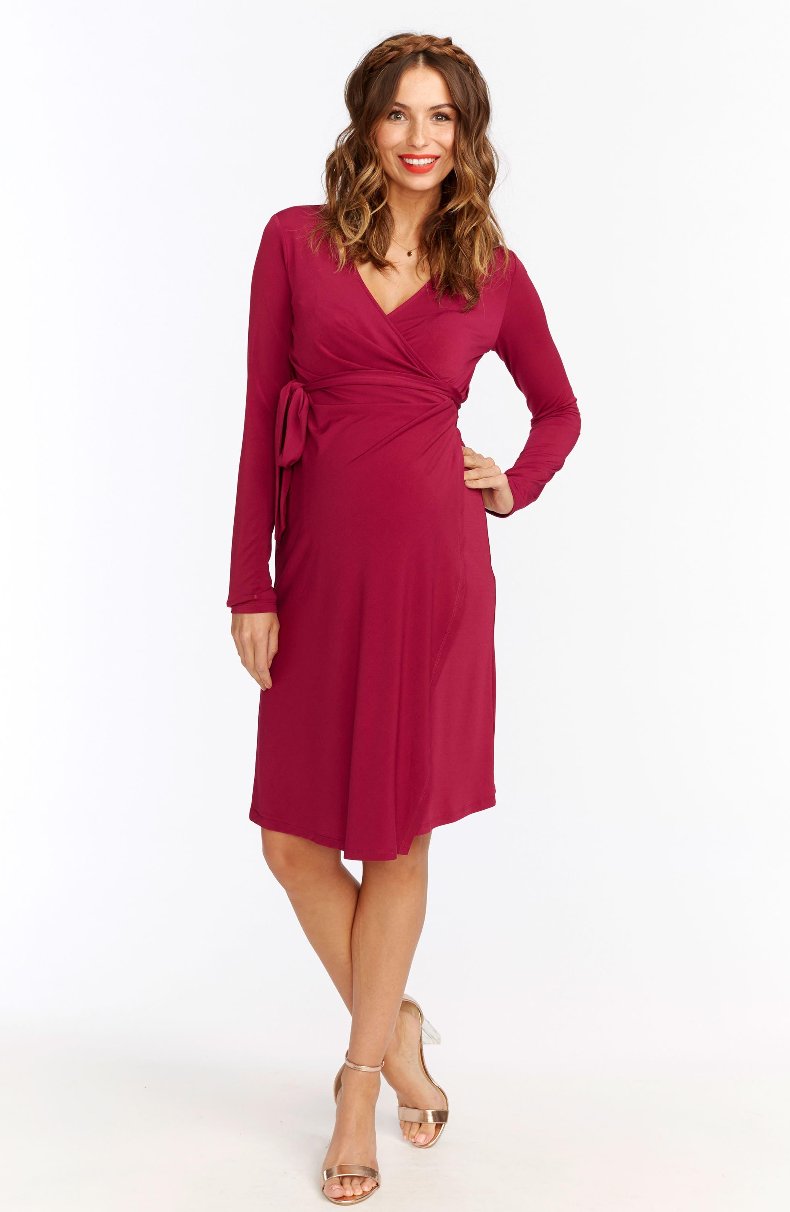 Alternate Image 2  - Rosie Pope Wrap Maternity Dress