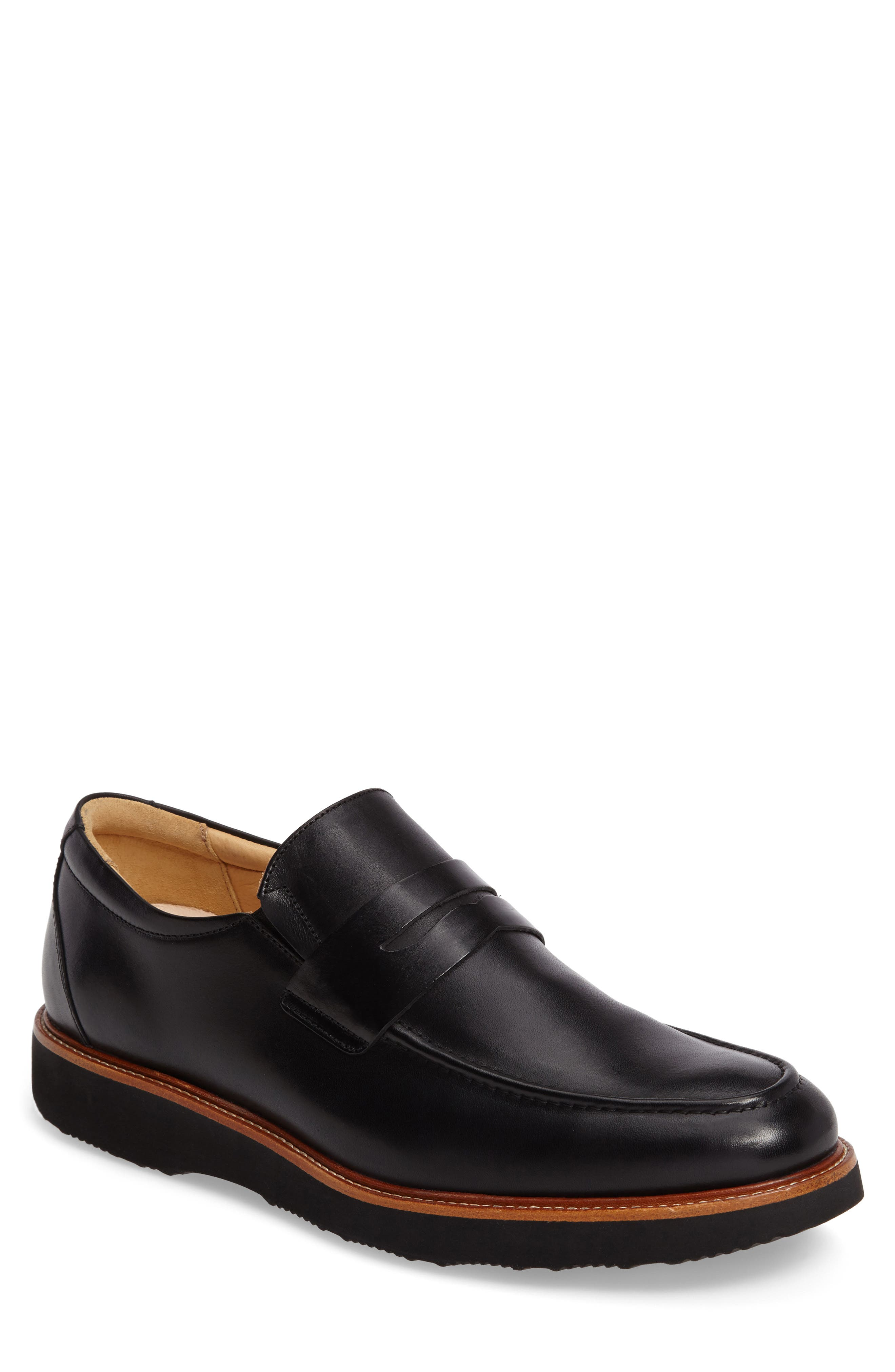 Ivy Legend Penny Loafer,                         Main,                         color, Black Full Grain