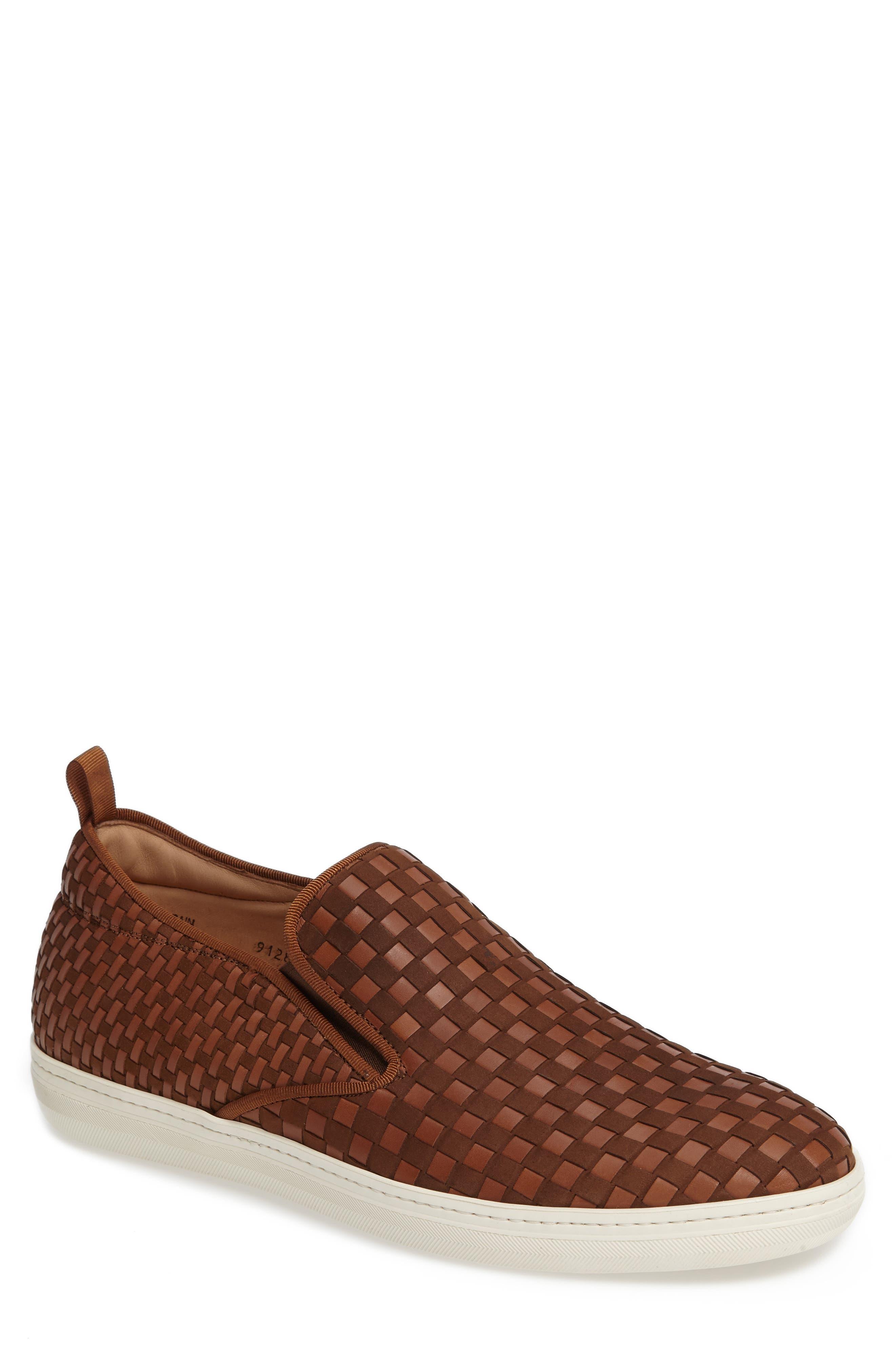 Fermi Slip-On,                         Main,                         color, Tobacco Leather