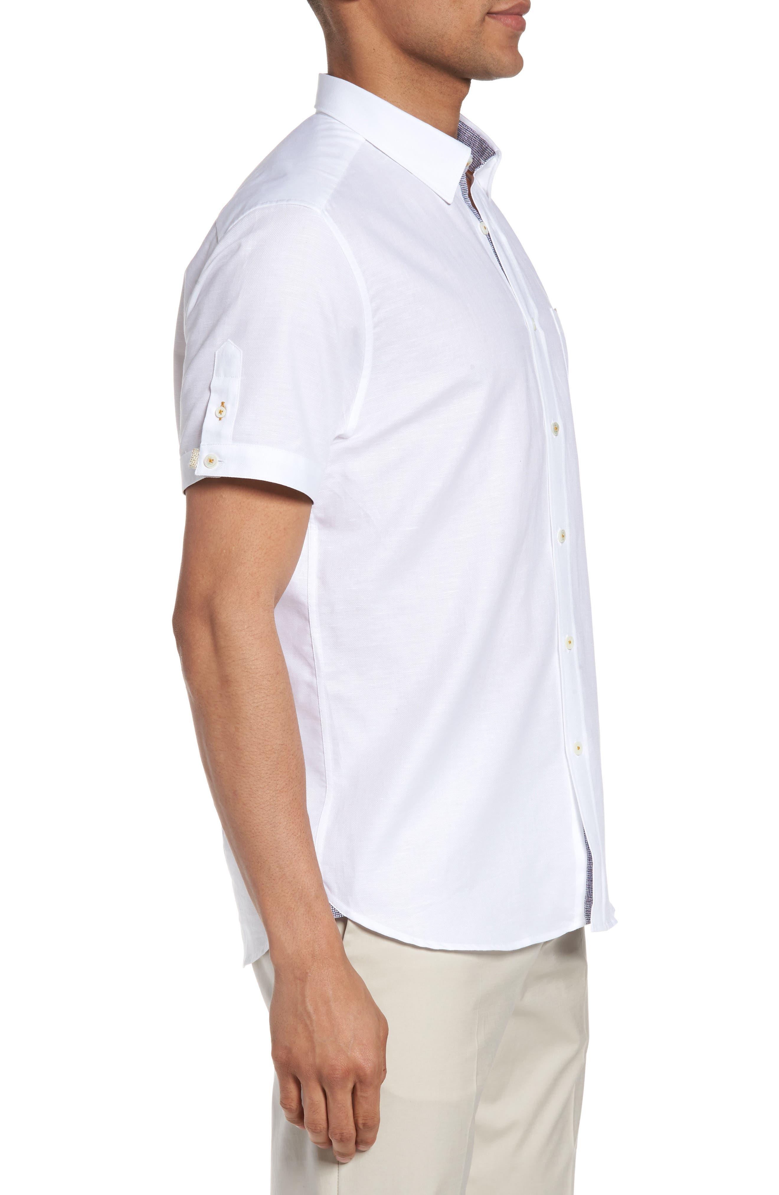 Alternate Image 3  - Ted Baker London Palpin Extra Slim Fit Cotton & Linen Sport Short