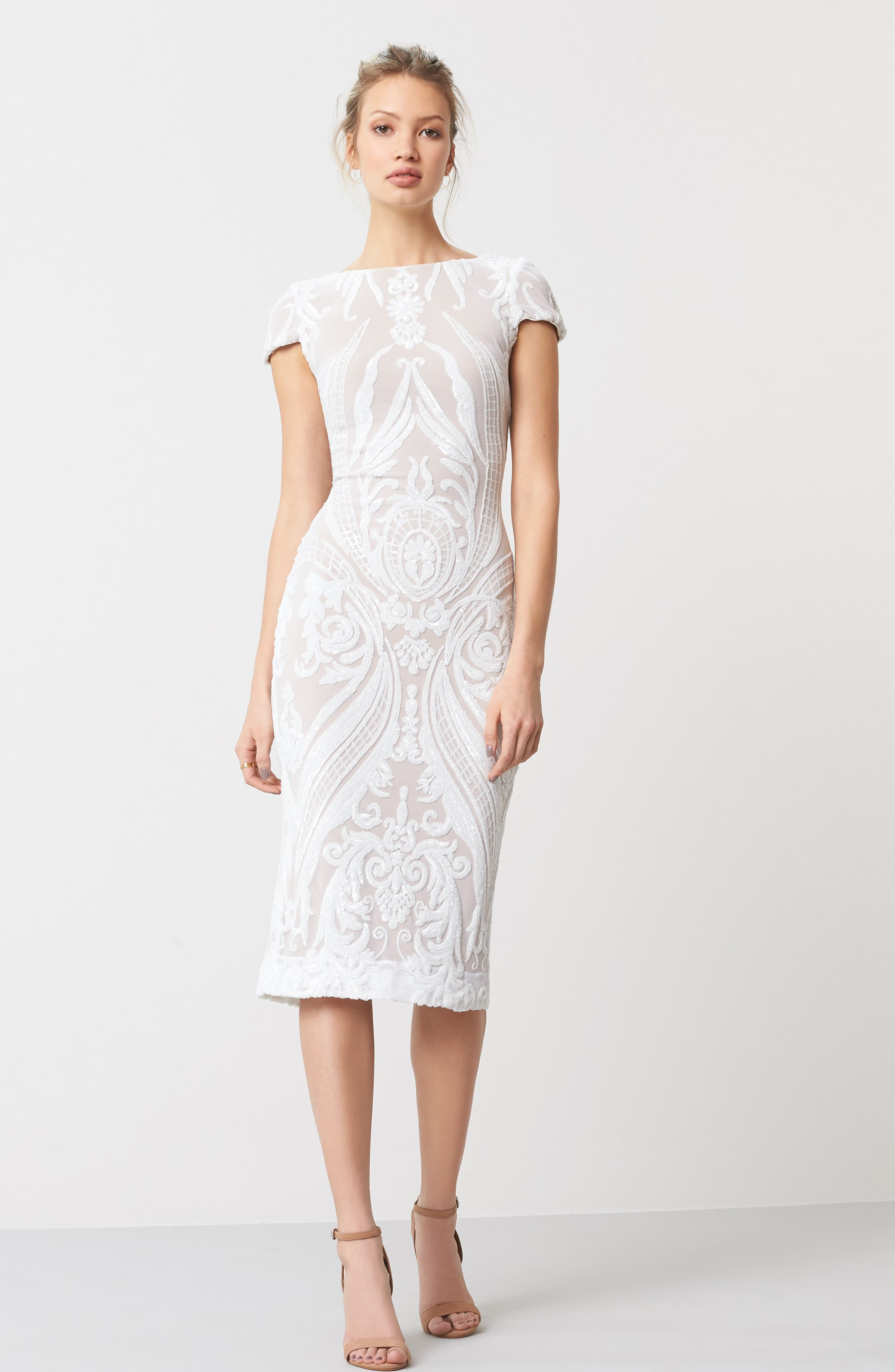 Alternate Image 2  - Dress the Population Brandi Sequin Body-Con Dress