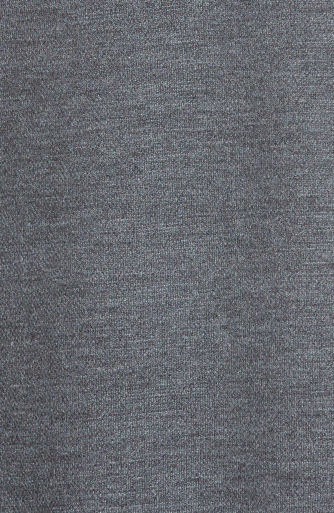 Milano Knit Jacquard Drape Front Jacket,                             Alternate thumbnail 6, color,                             Flint Multi