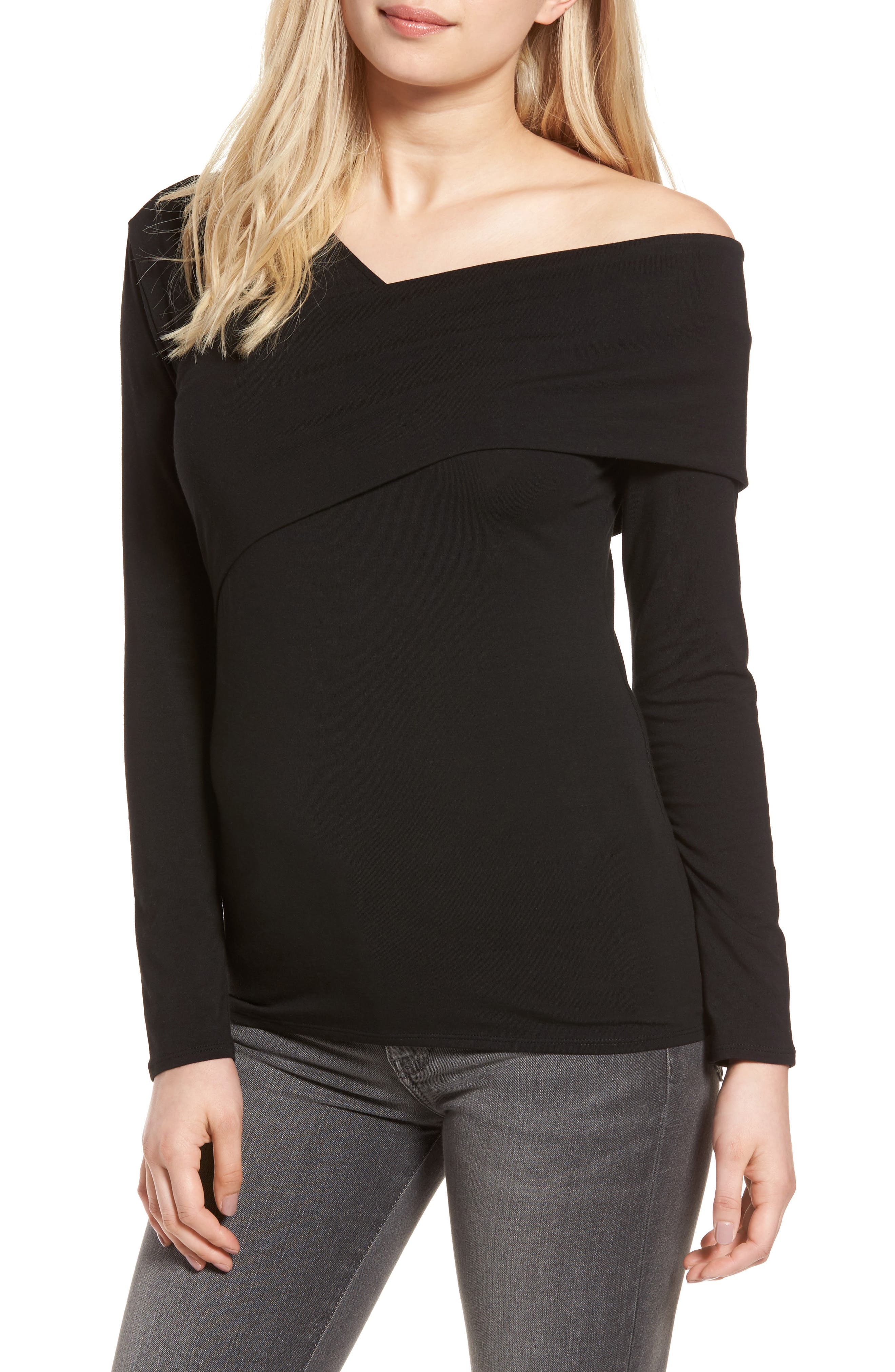 Trouvé Asymmetrical Neck Top