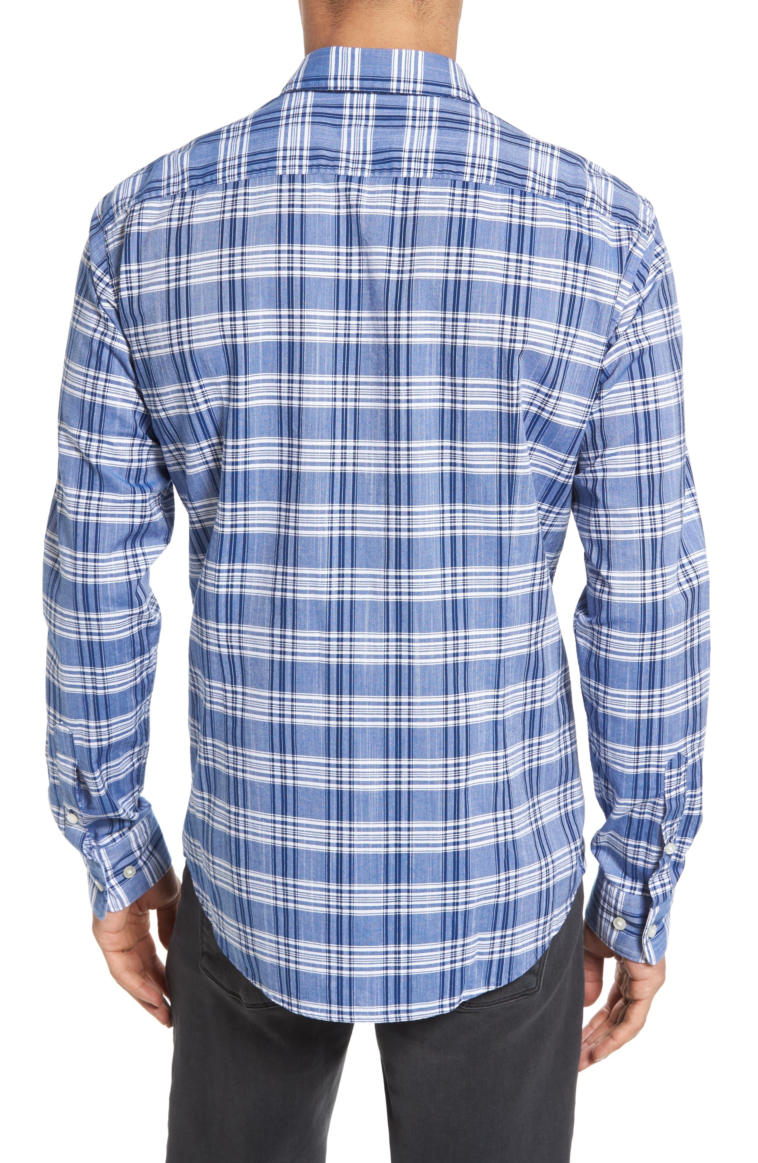 Alternate Image 2  - BOSS Robbie Trim Fit Large Check Sport Shirt