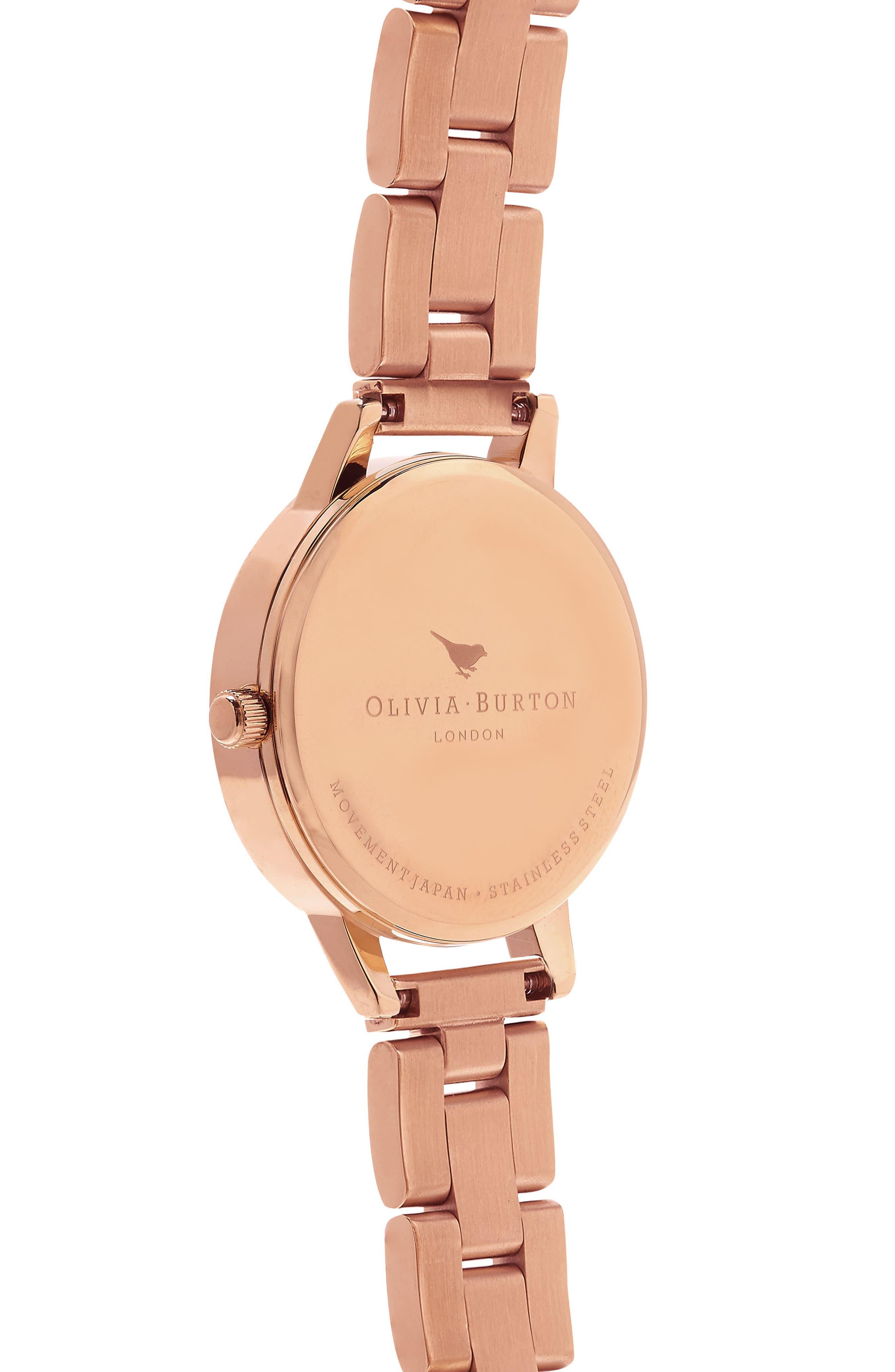 Midi Dial Bracelet Watch, 30mm,                             Alternate thumbnail 2, color,                             Rose Gold