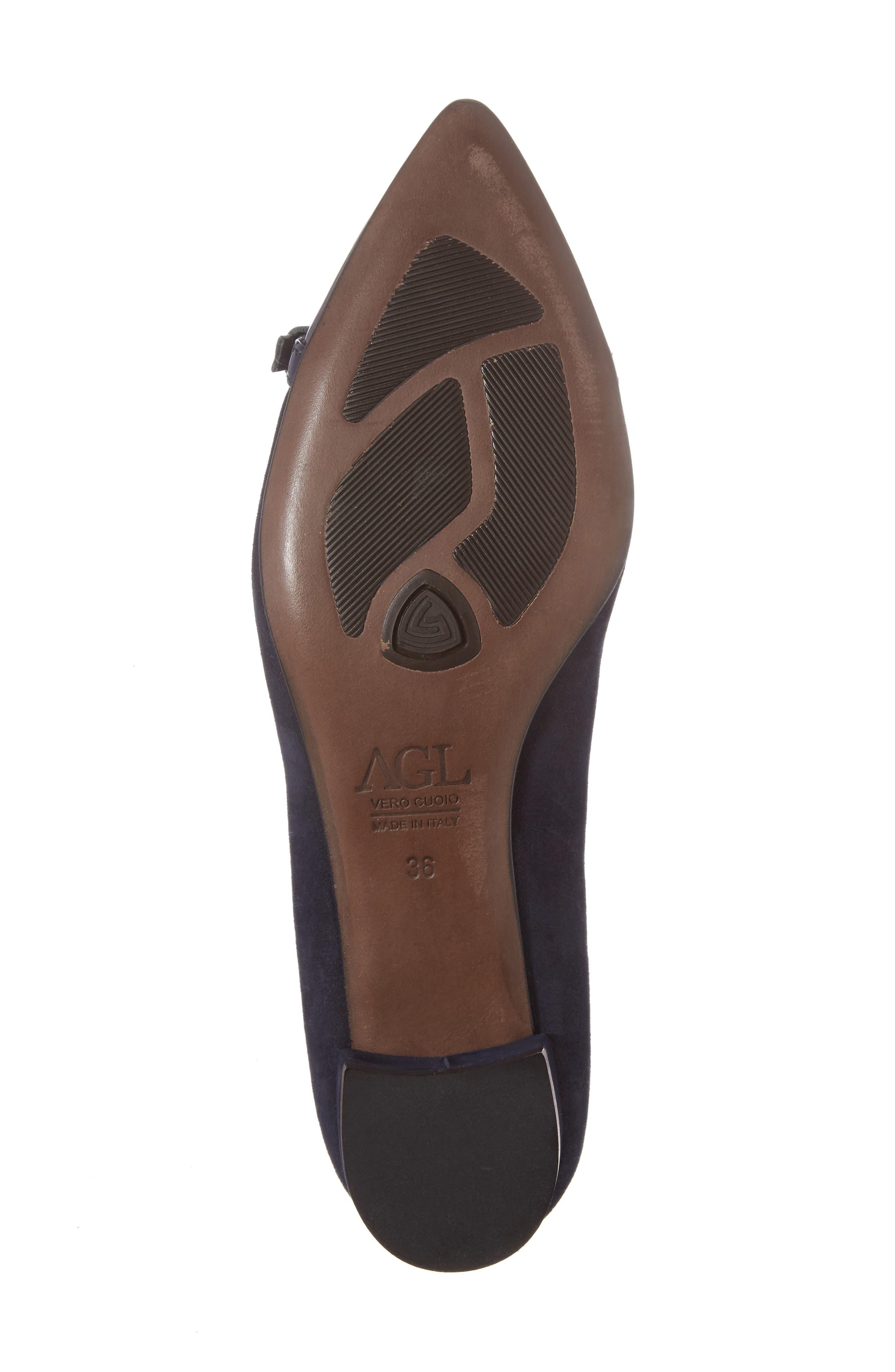 Belted Block Heel Pump,                             Alternate thumbnail 7, color,                             Night Shimmer Leather