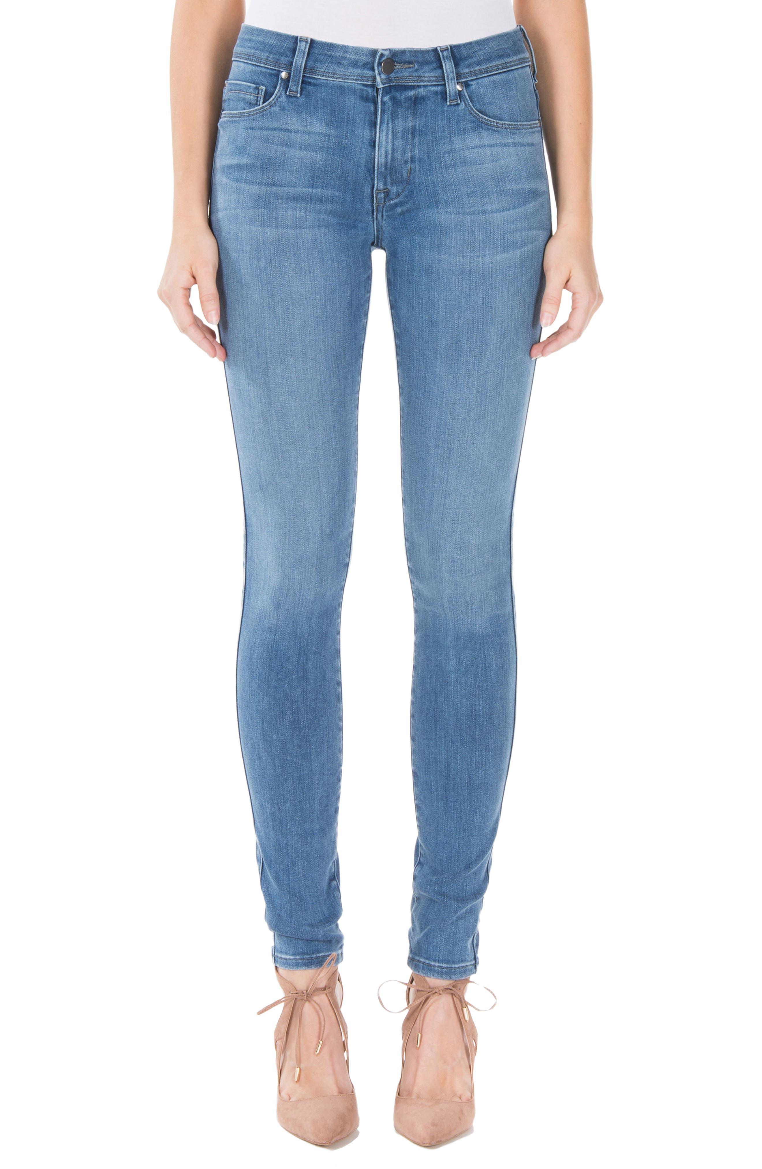 Alternate Image 1 Selected - Fidelity Denim Belvedere Skinny Jeans (Greenwich)