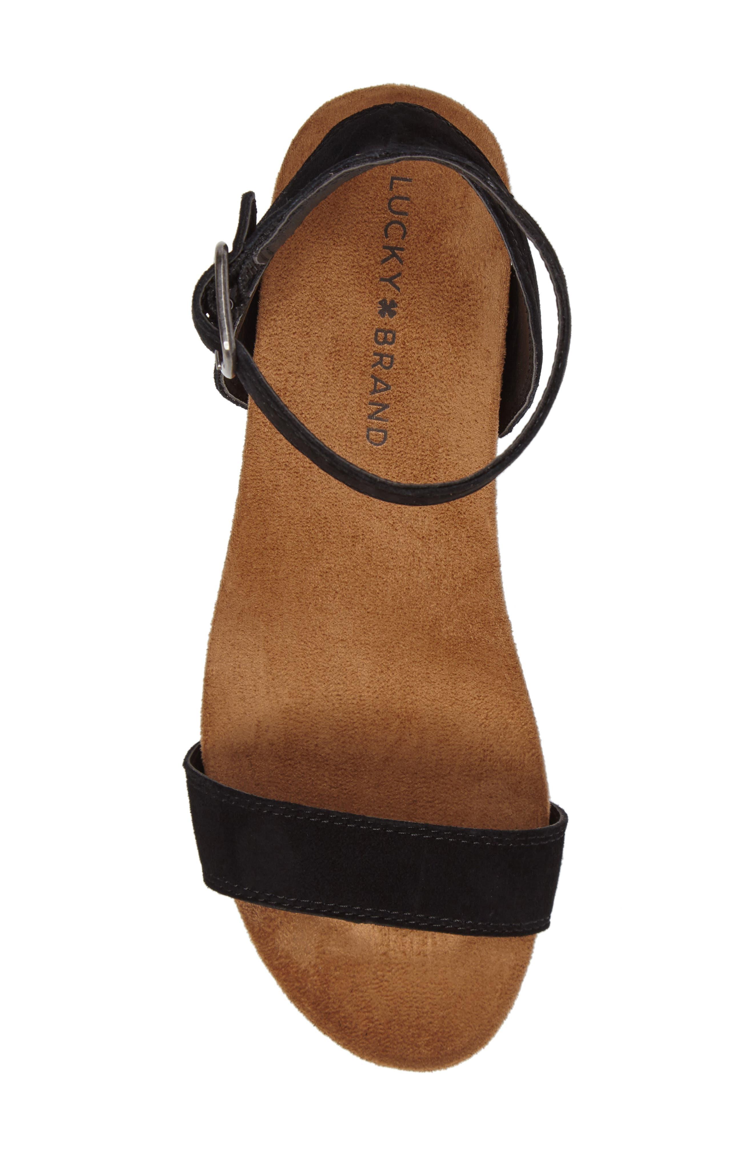 Alternate Image 5  - Lucky Brand Karston Wedge Sandal (Women)