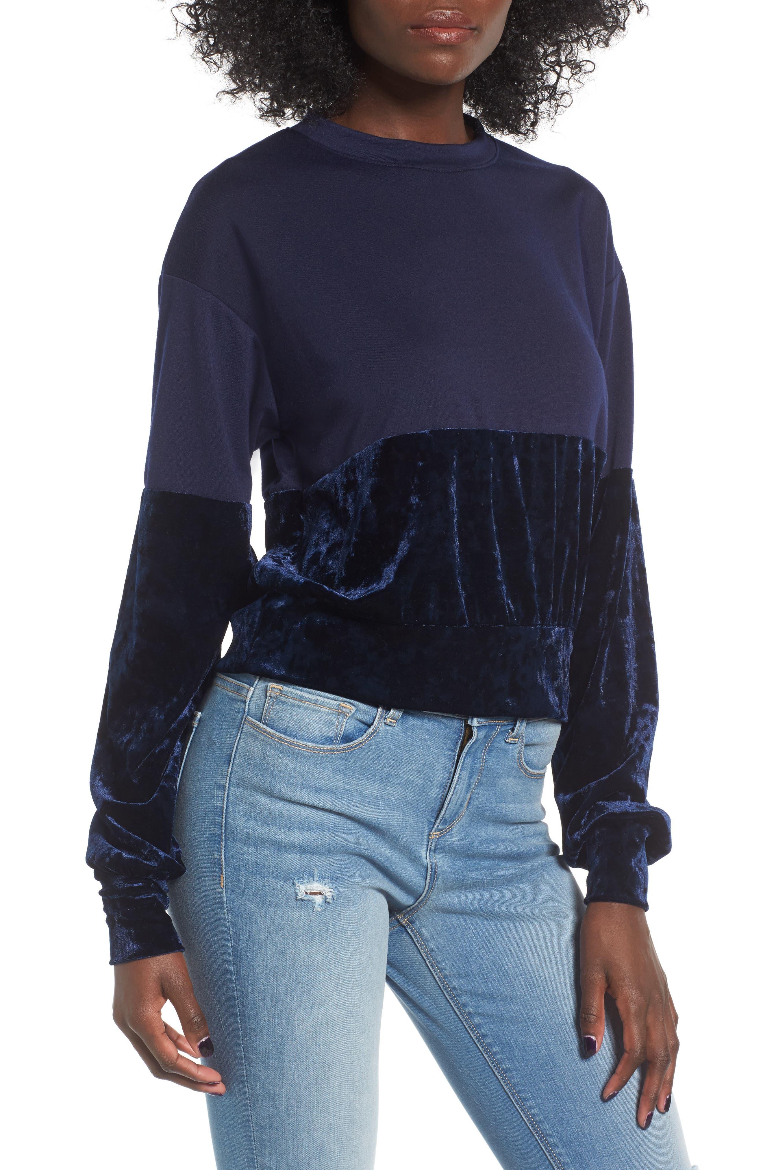 Chloe & Katie Velvet Remix Sweatshirt