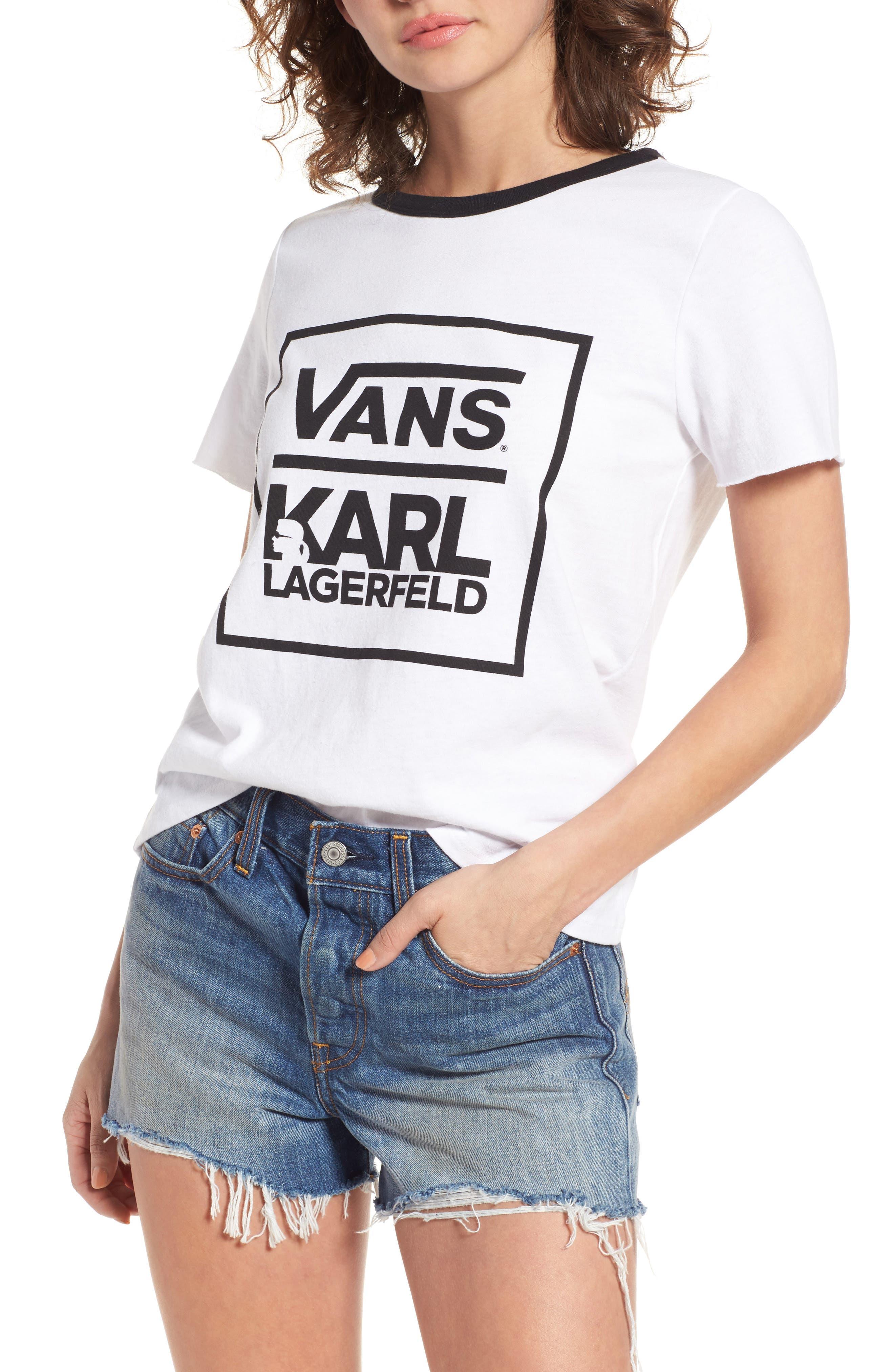 Vans x KARL LAGERFELD Ringer Tee
