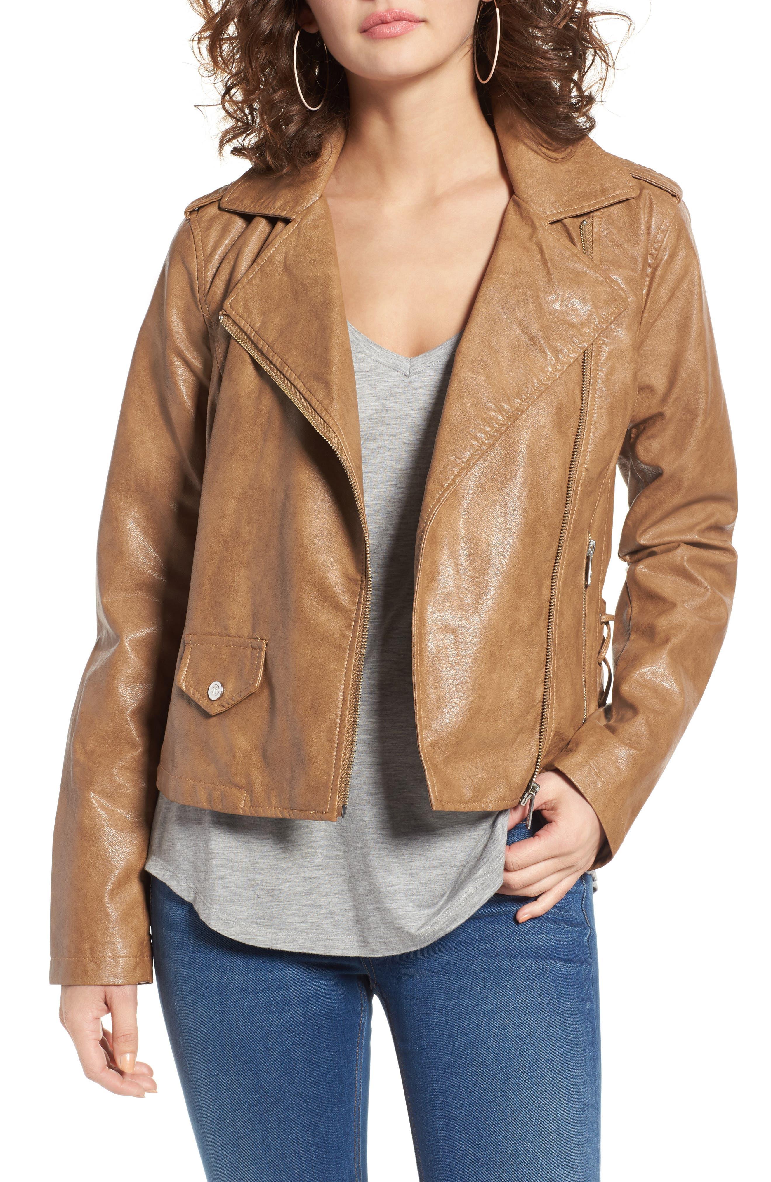 Bernardo Kirwin Faux Leather Moto Jacket